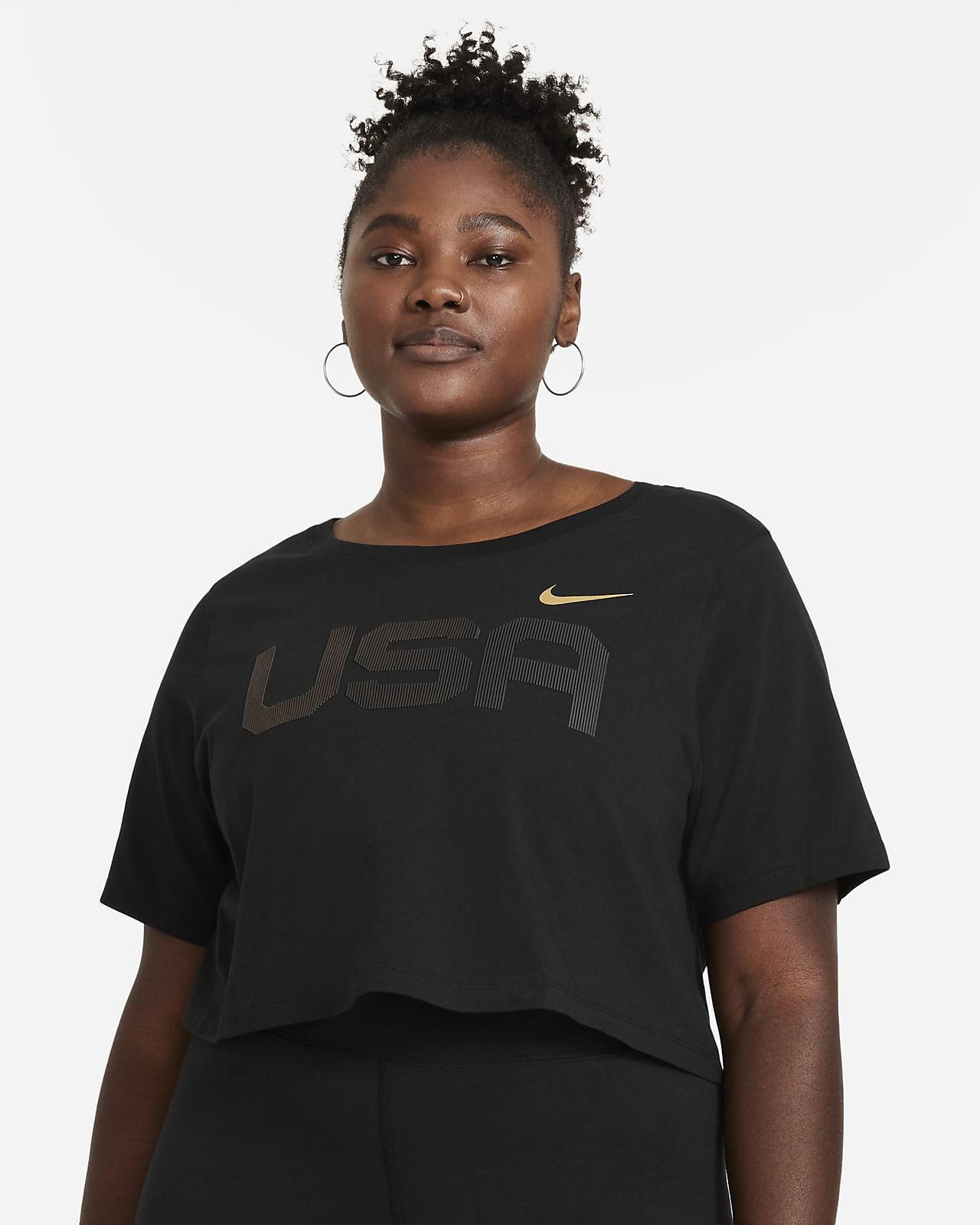 Nike Sportswear Women's USA Crop T-Shirt (Plus Size)