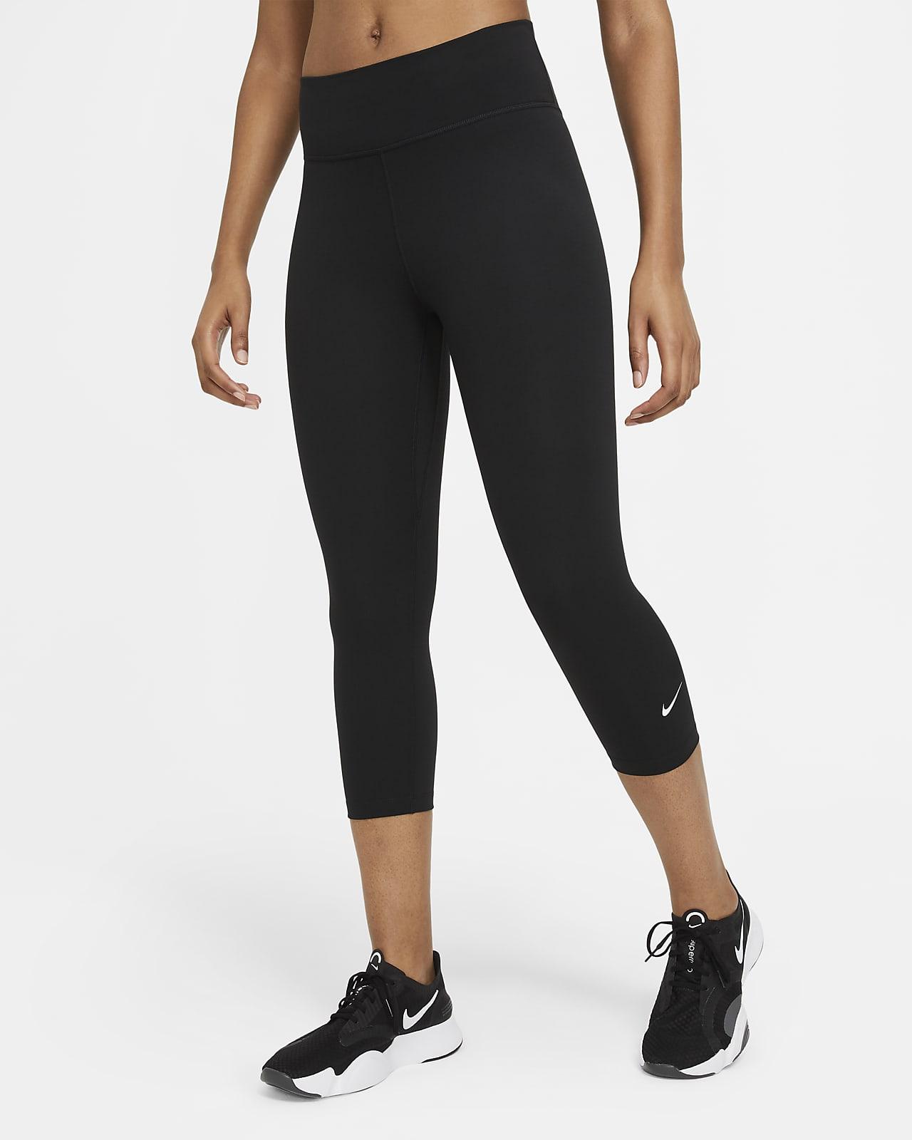 เลกกิ้งผู้หญิง 3 ส่วนเอวปานกลาง Nike One