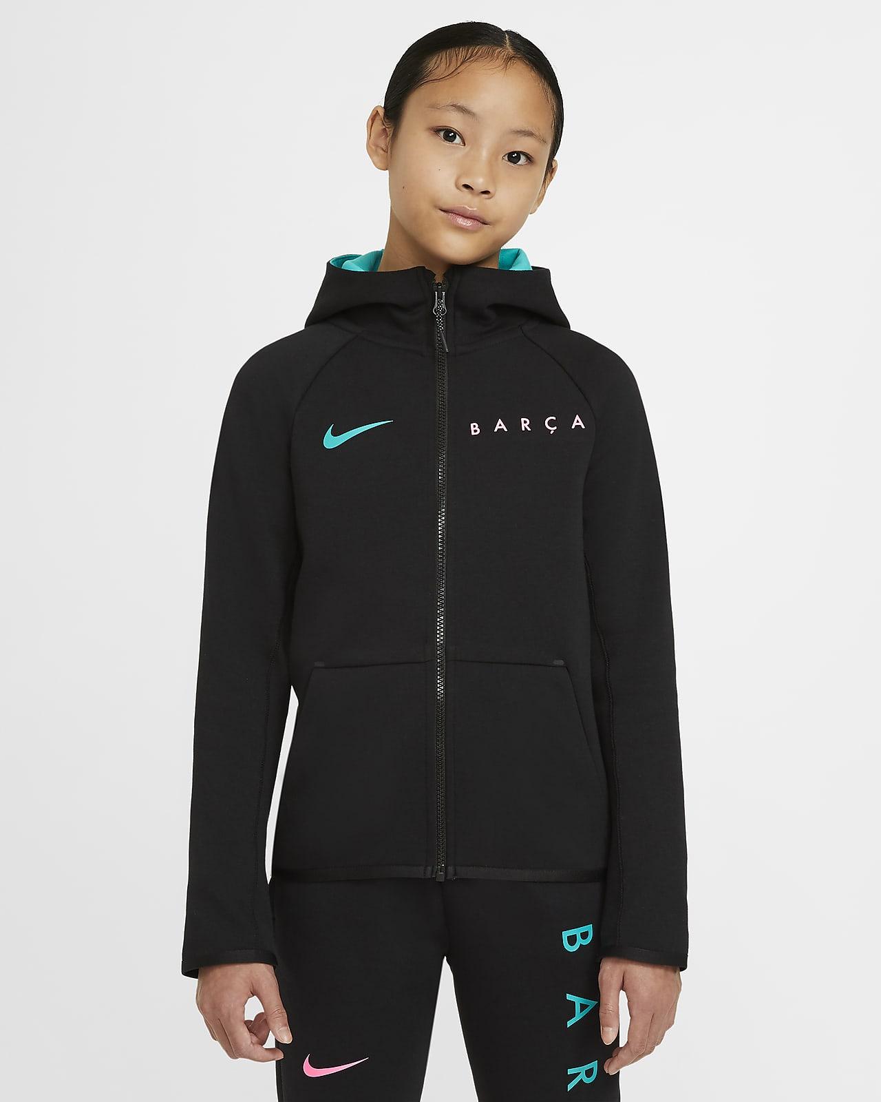 Sweat à capuche entièrement zippé FC Barcelona Tech Fleece pour Enfant plus âgé