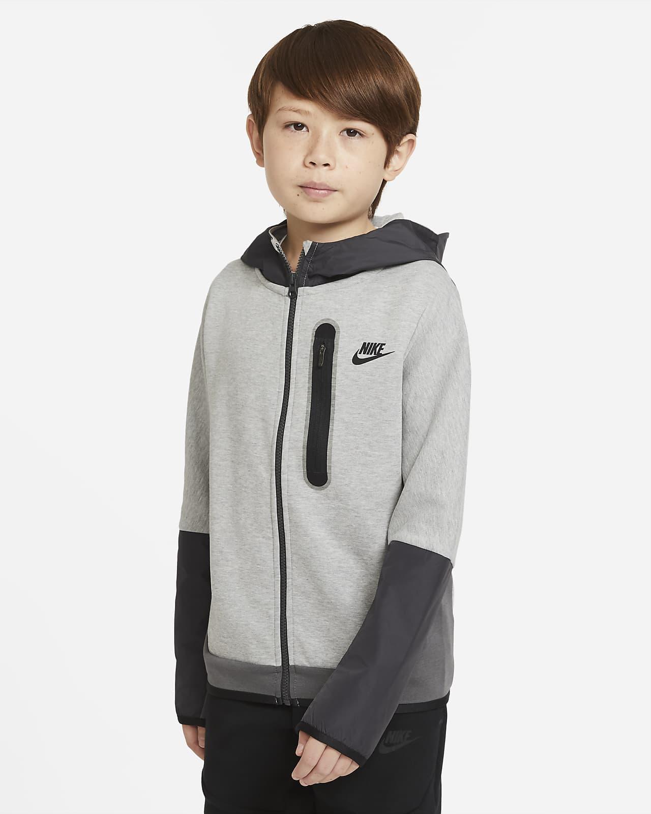 Nike Sportswear Tech Fleece Big Kids' (Boys') Woven Full-Zip Hoodie