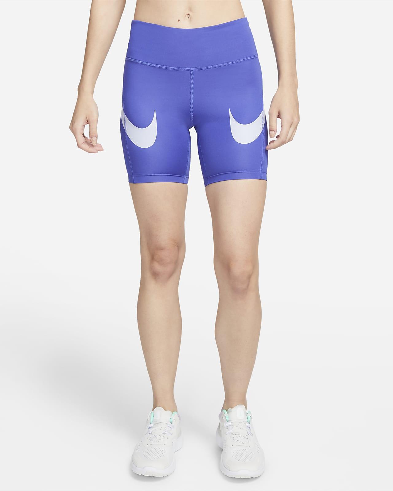 Nike Dri-FIT Fast Women's Mid-Rise Swoosh Shorts
