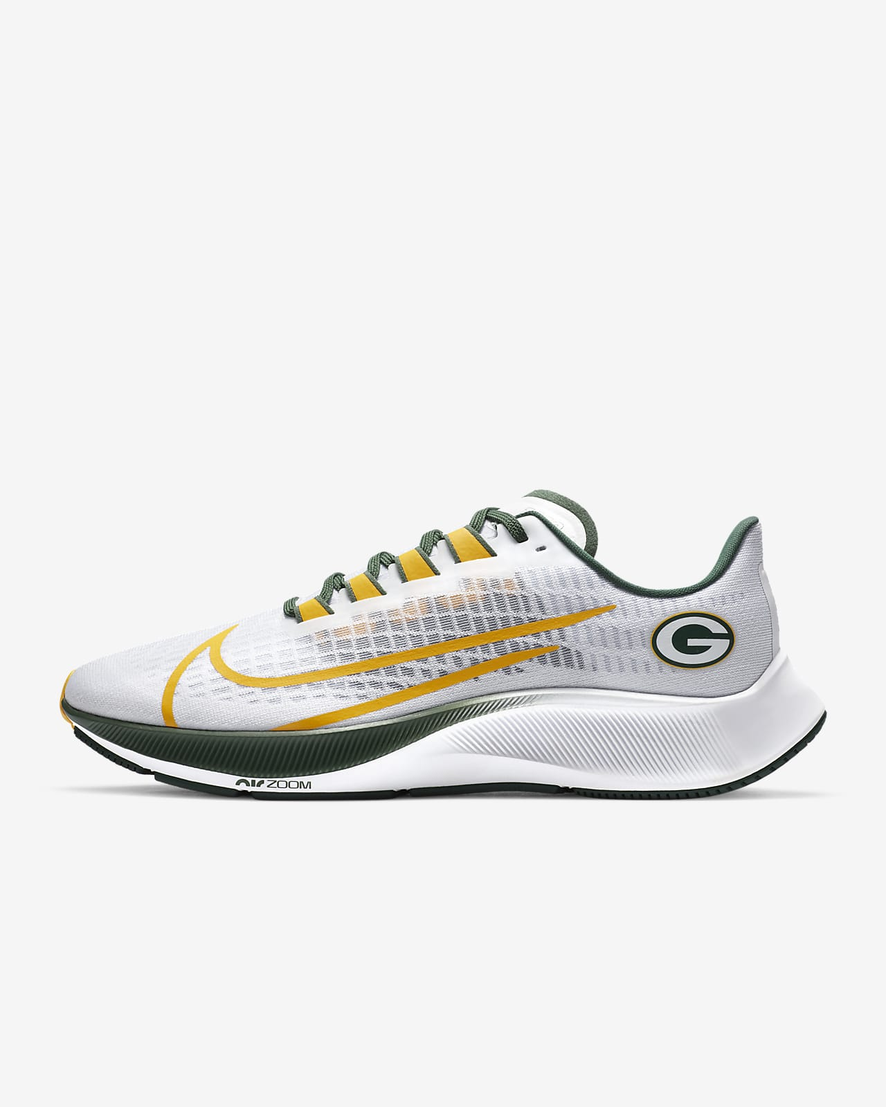 Nike Air Zoom Pegasus 37 (Green Bay Packers) Running Shoe