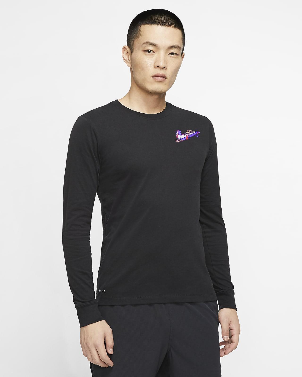 Tee-shirt de training à manches longues Nike Dri-FIT pour Homme