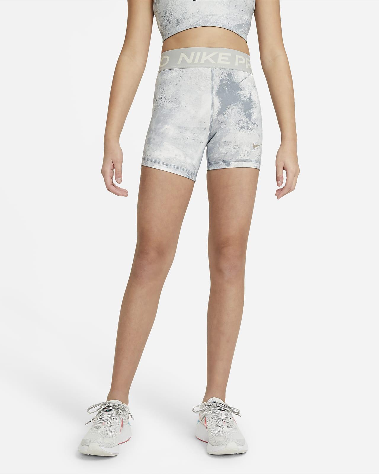 Шорты с принтом тай-дай для девочек школьного возраста Nike Pro 8 см