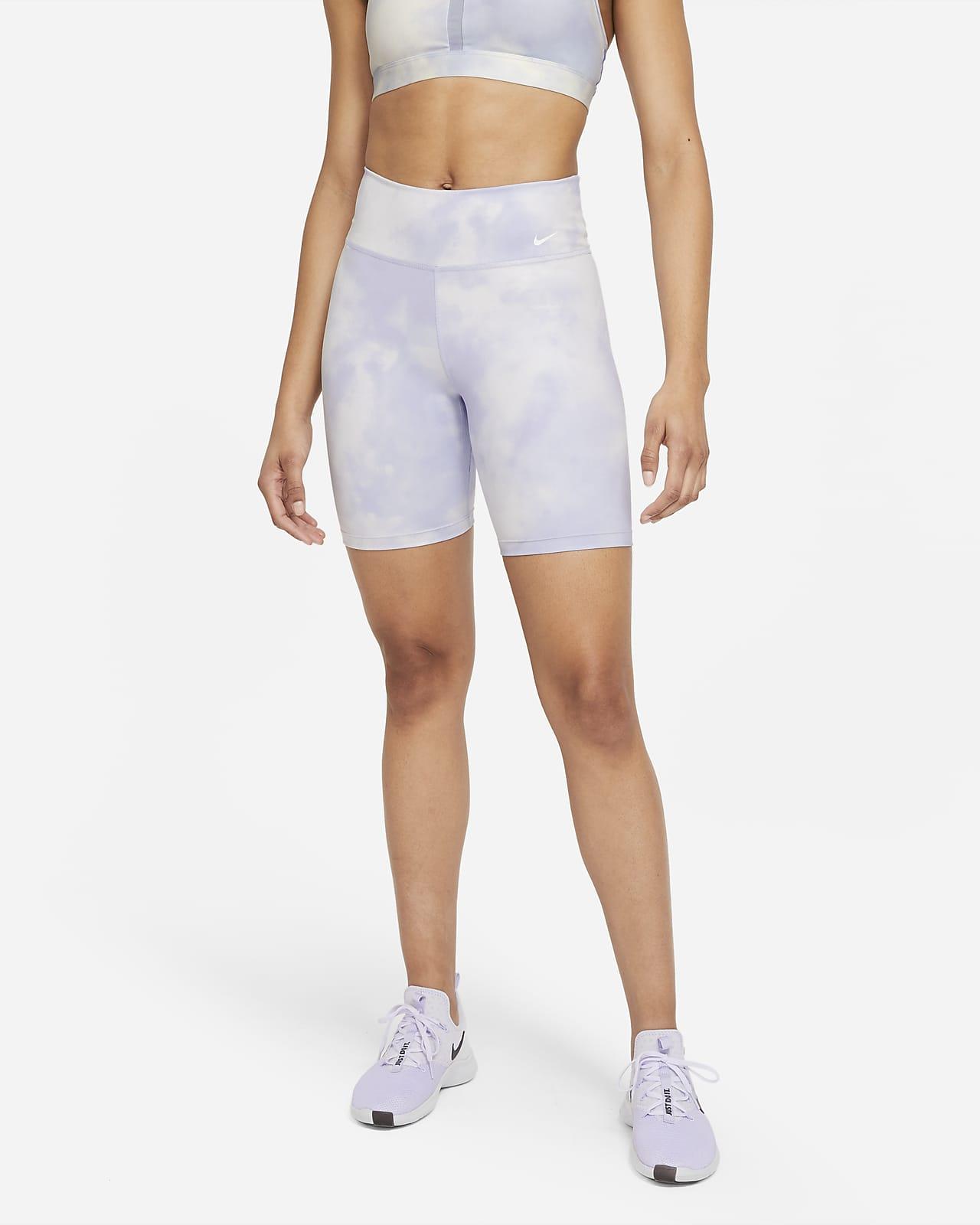Shorts estampados de 18 cm para mujer Nike One Icon Clash