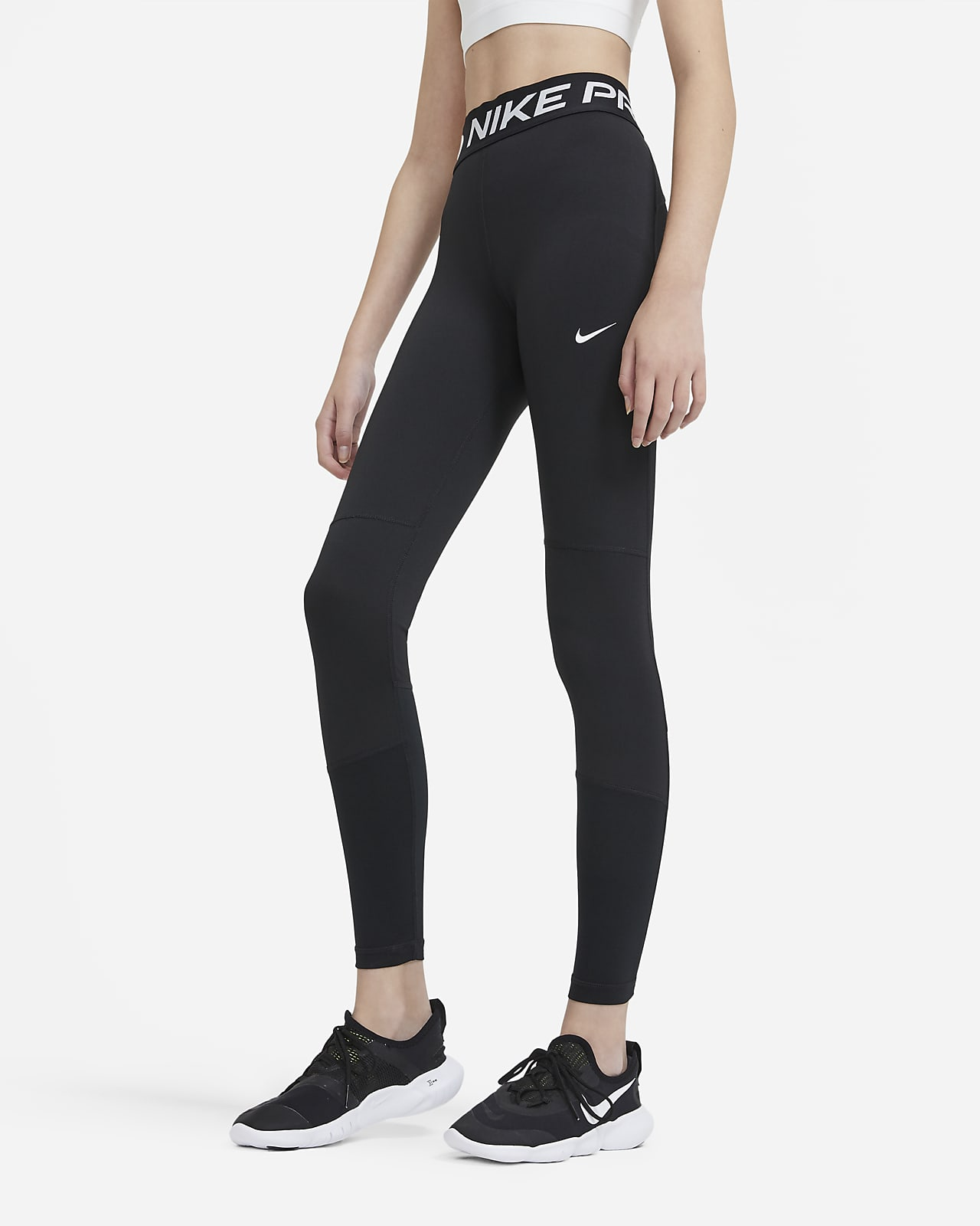 Nike Pro 大童 (女童) 內搭褲