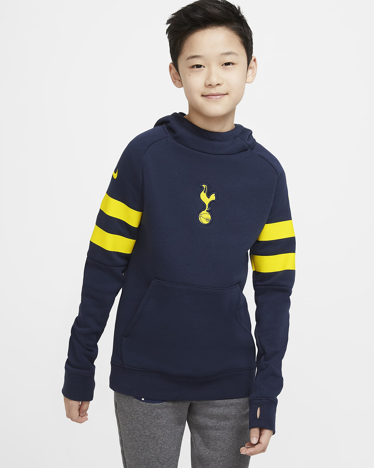 Tottenham Hotspur Older Kids' Fleece Pullover Football Hoodie