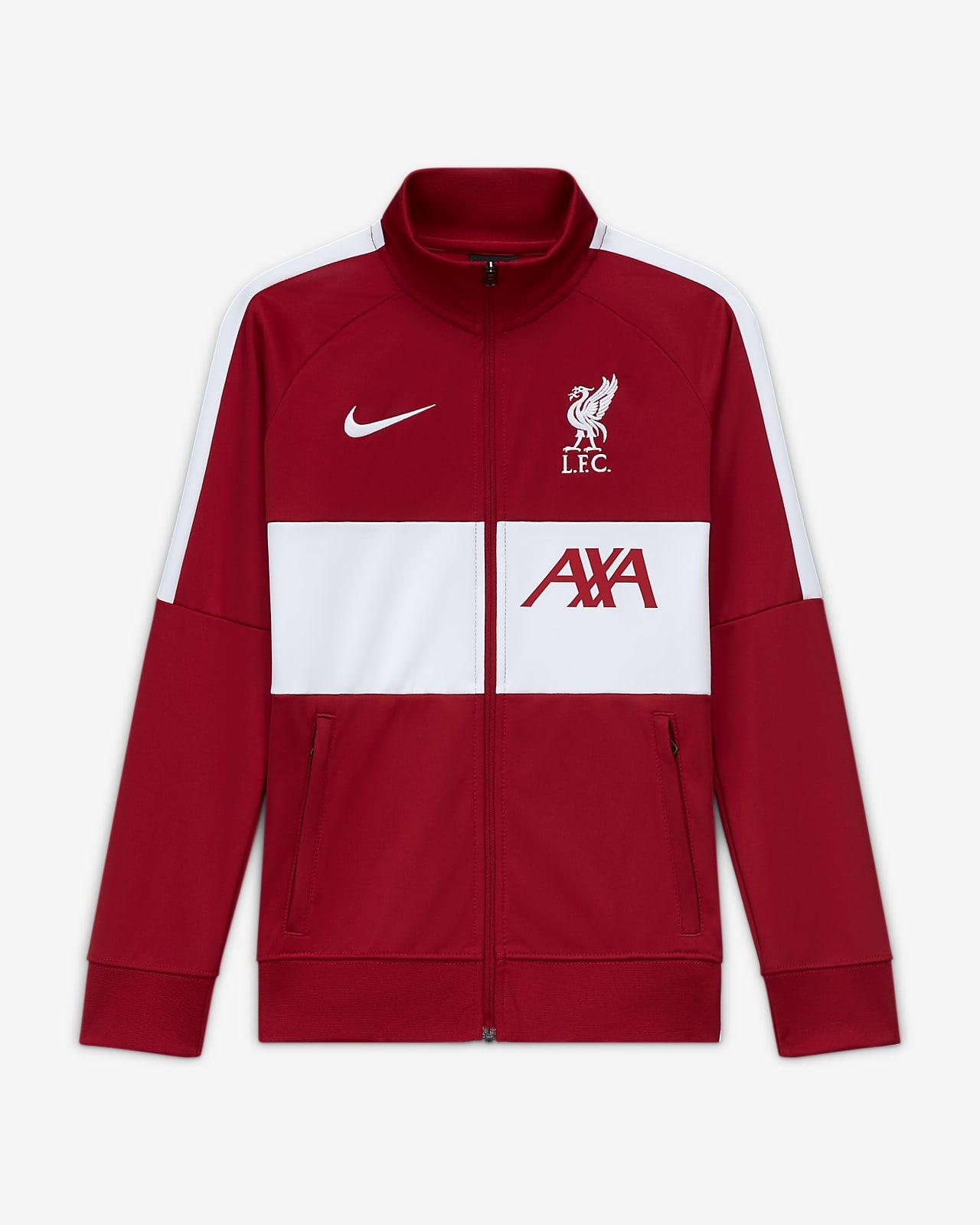 Chamarra de entrenamiento de fútbol para niño talla grande Liverpool FC