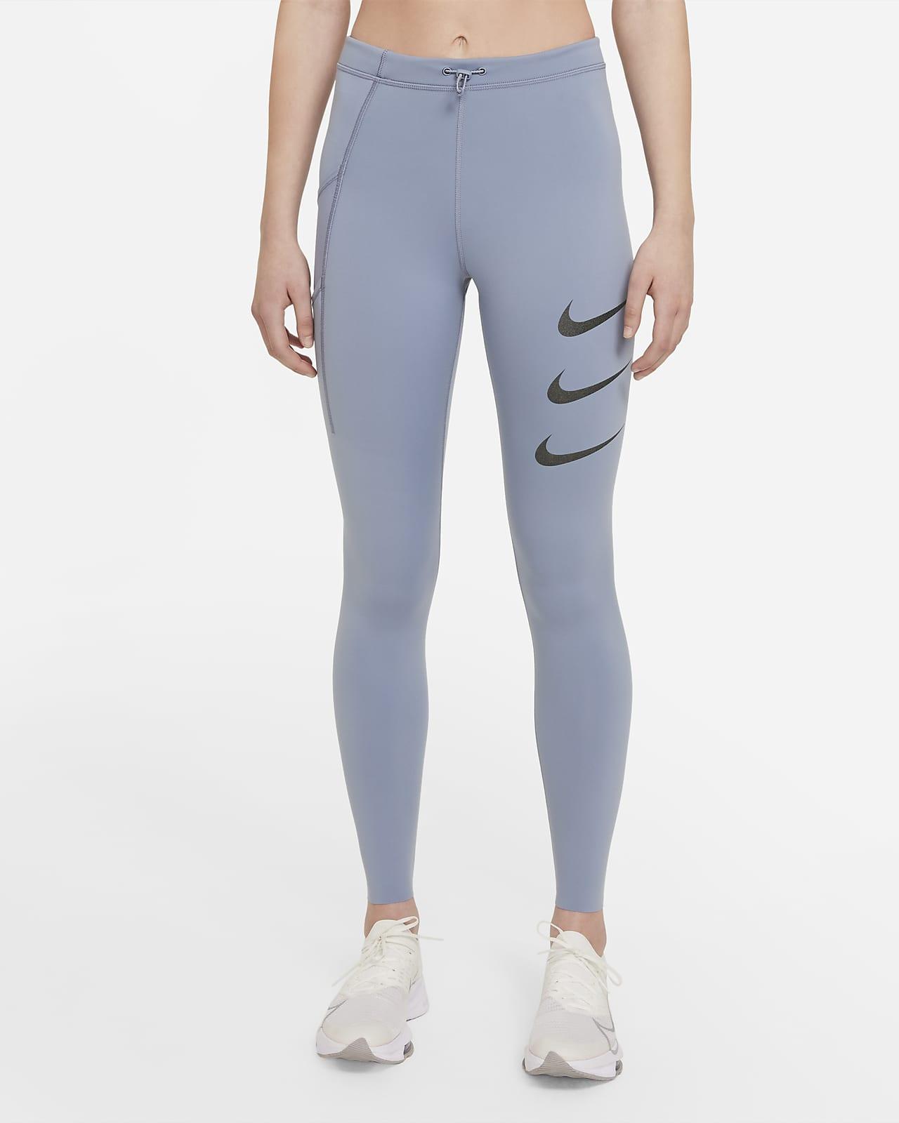 Damskie legginsy do biegania ze średnim stanem Nike Epic Luxe Run Division