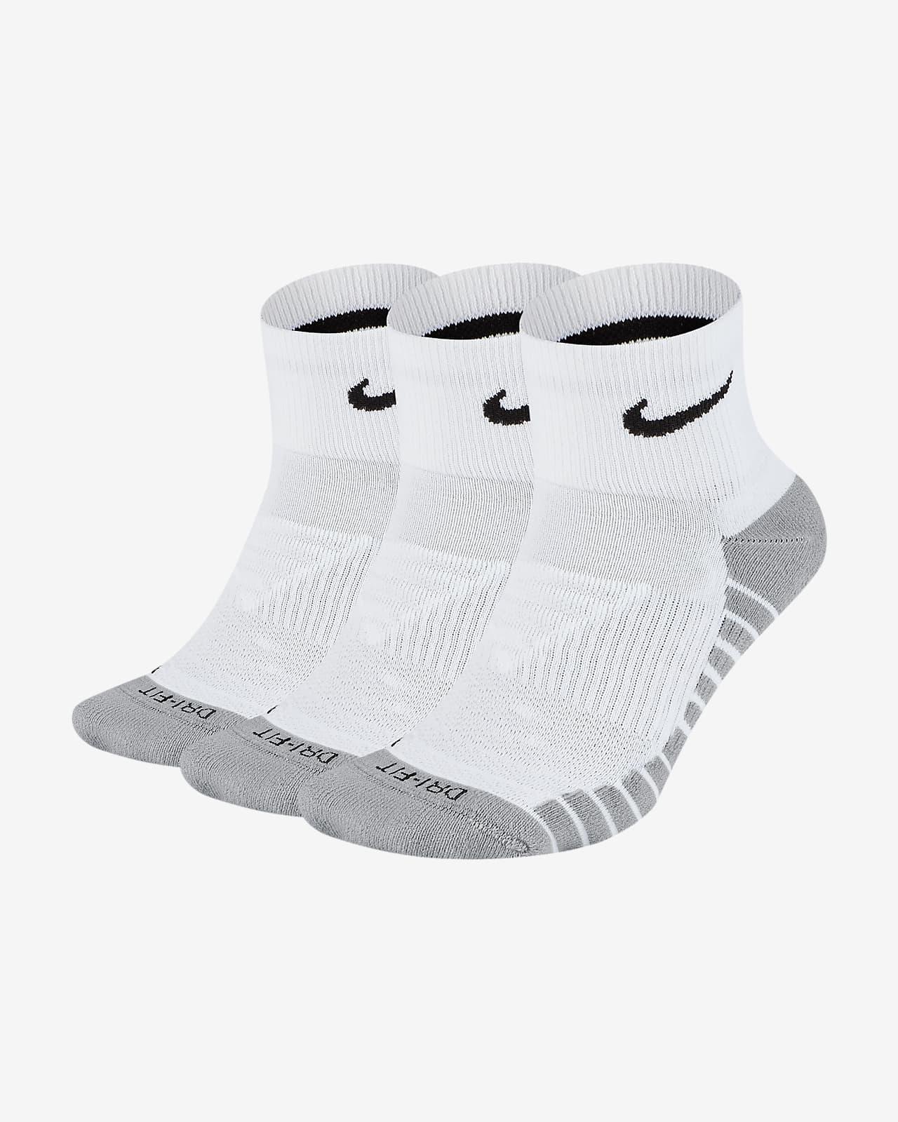 Calcetines cortos de entrenamiento Nike Everyday Max Cushioned (3 pares)