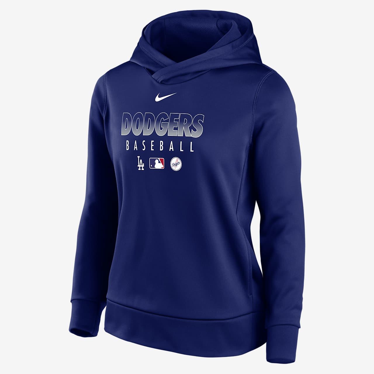 Nike Therma (MLB Los Angeles Dodgers) Women's Pullover Hoodie