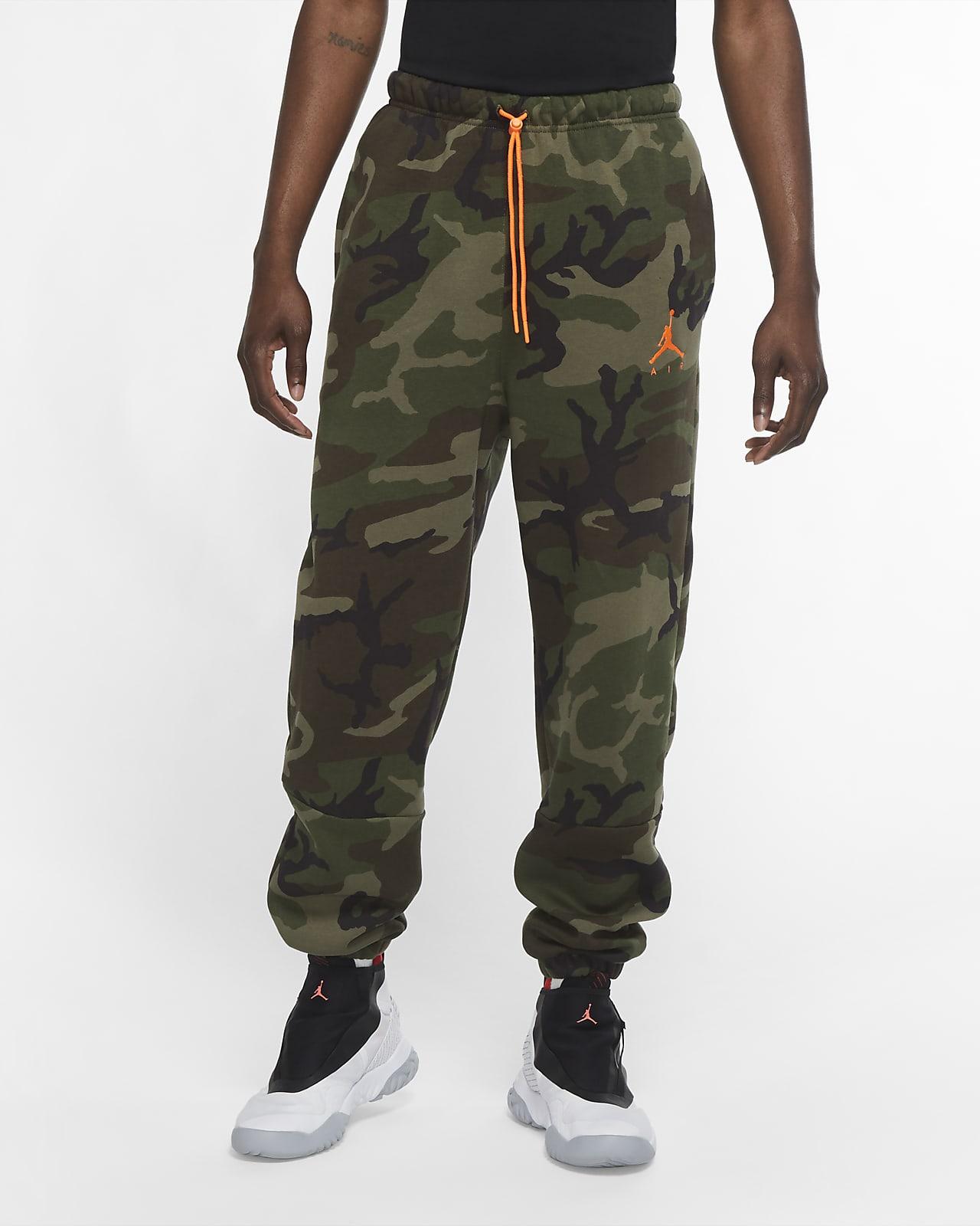 Pánské maskáčové flísové kalhoty Jordan Jumpman Air