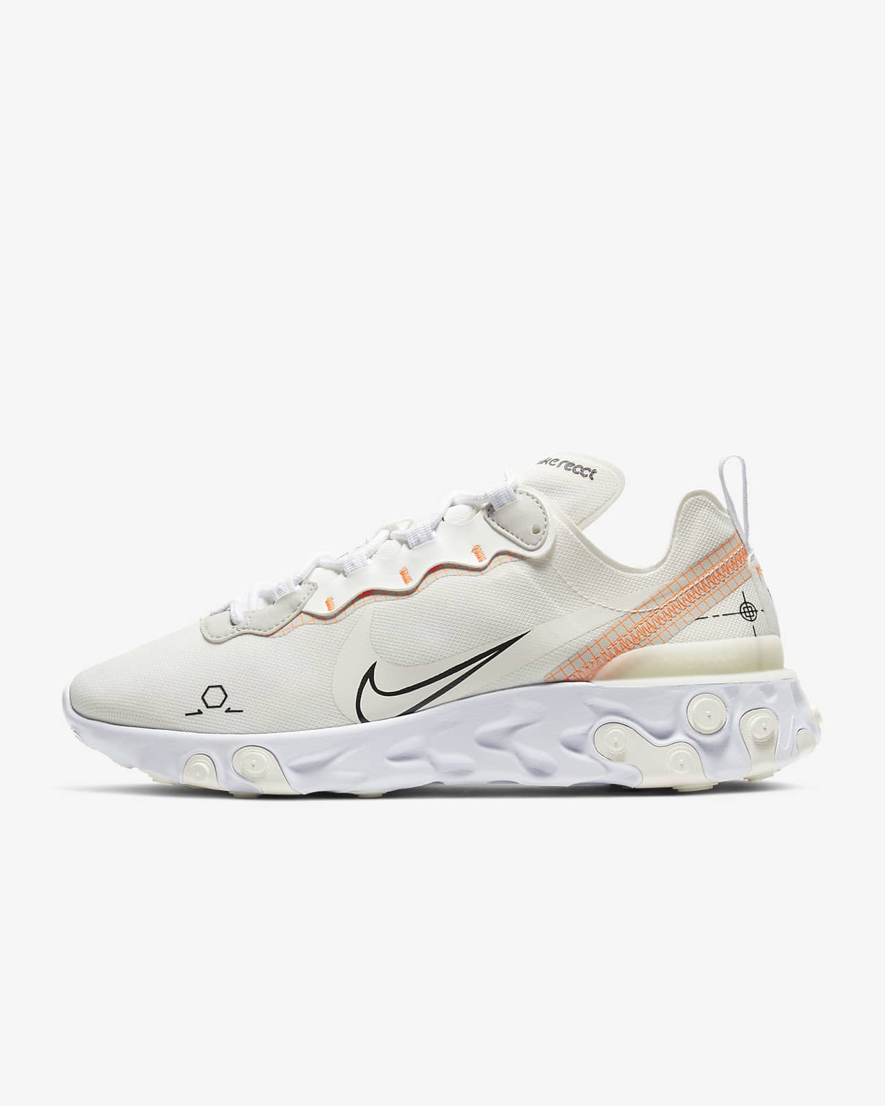 nike react blanche homme