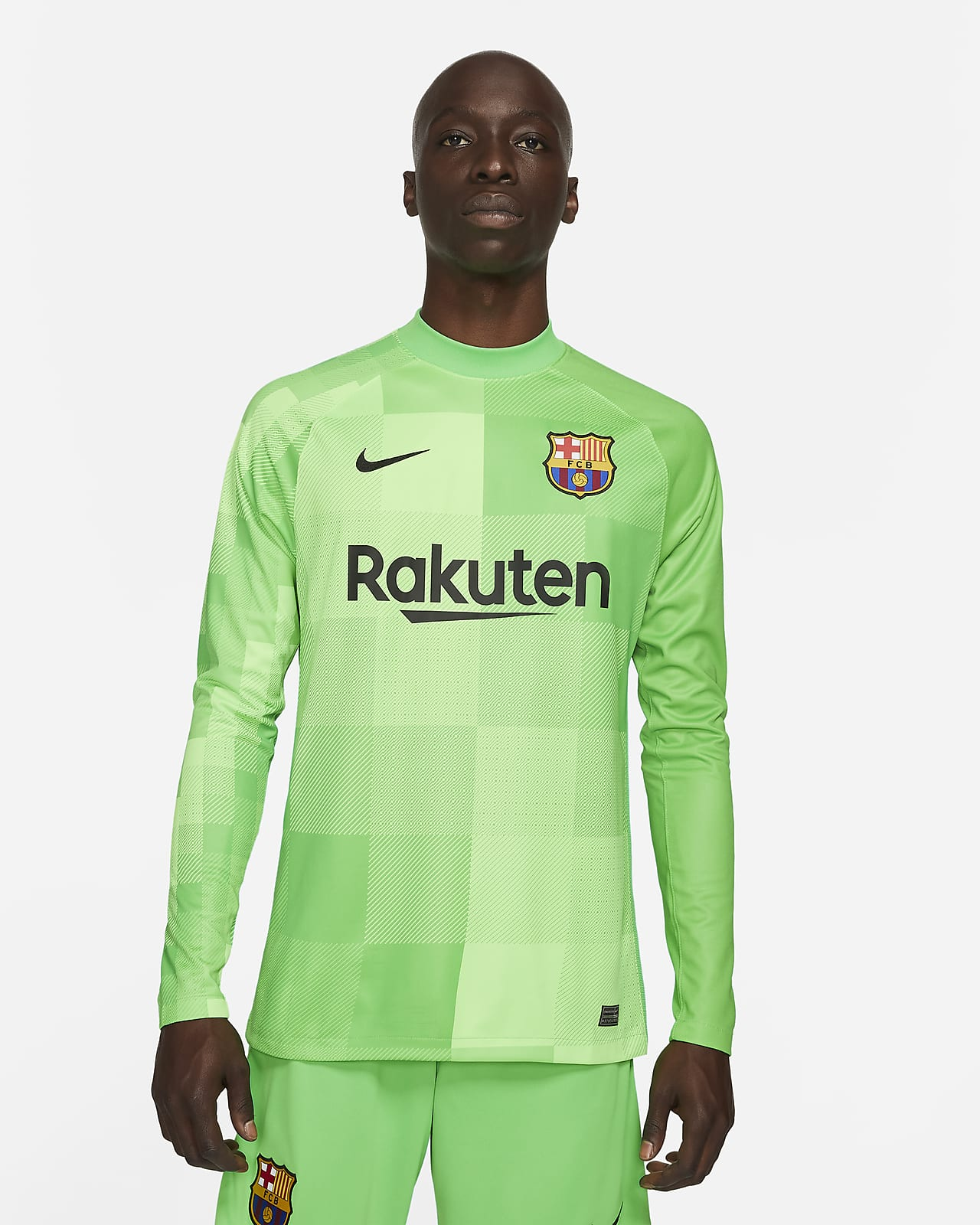 FC Barcelona 2021/22 Stadyum Kaleci Uzun Kollu Erkek Futbol Forması