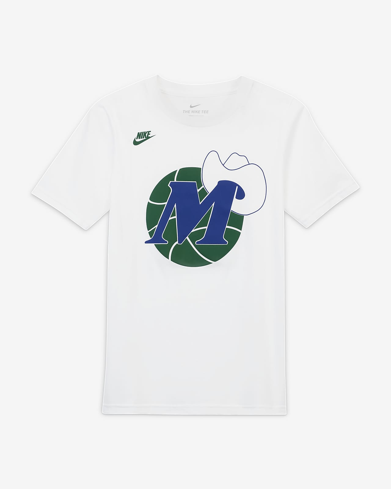 Dallas Mavericks Classic Edition Older Kids' Nike NBA Logo T-Shirt