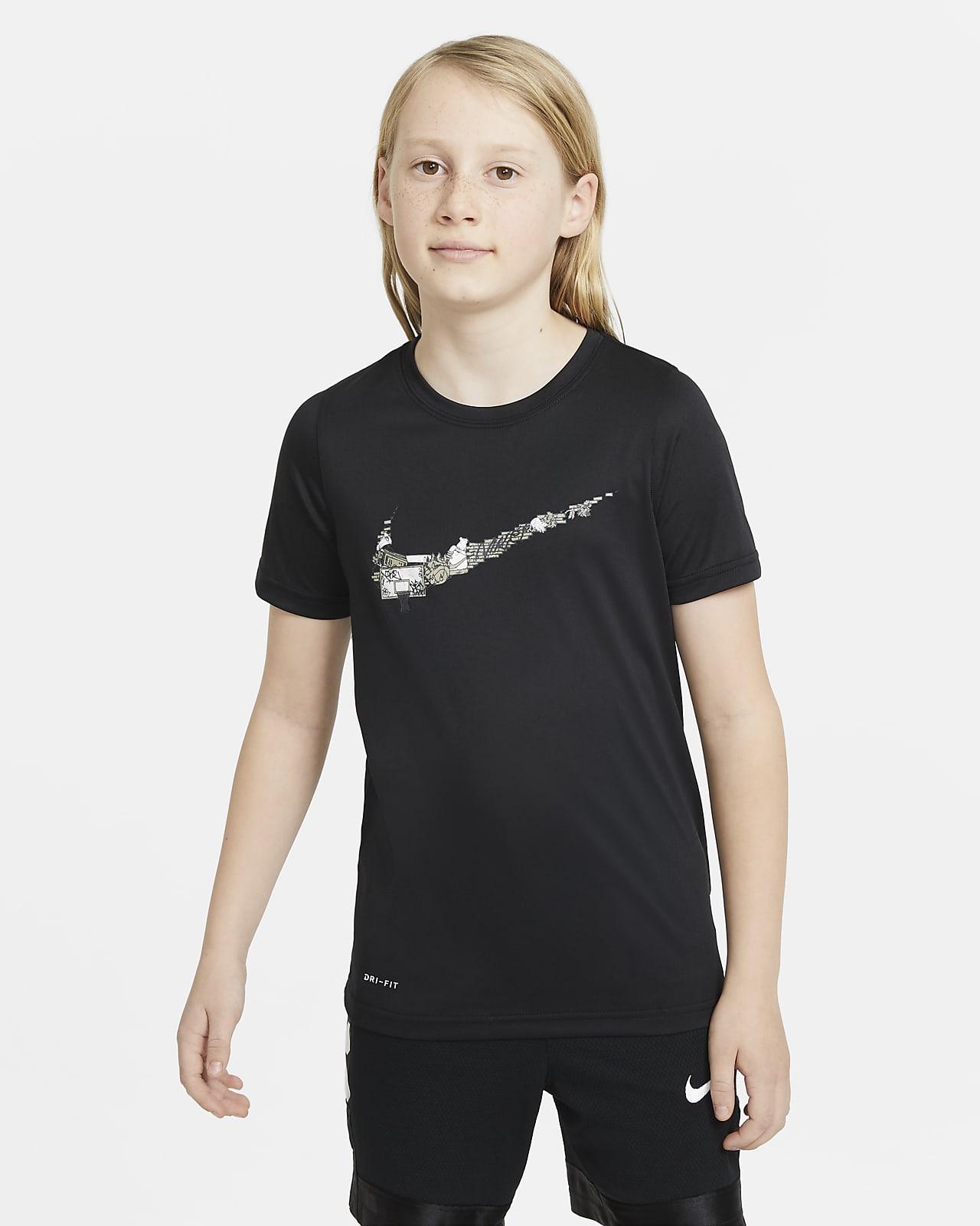 Nike Dri-FIT trenings-T-skjorte til store barn (gutt)