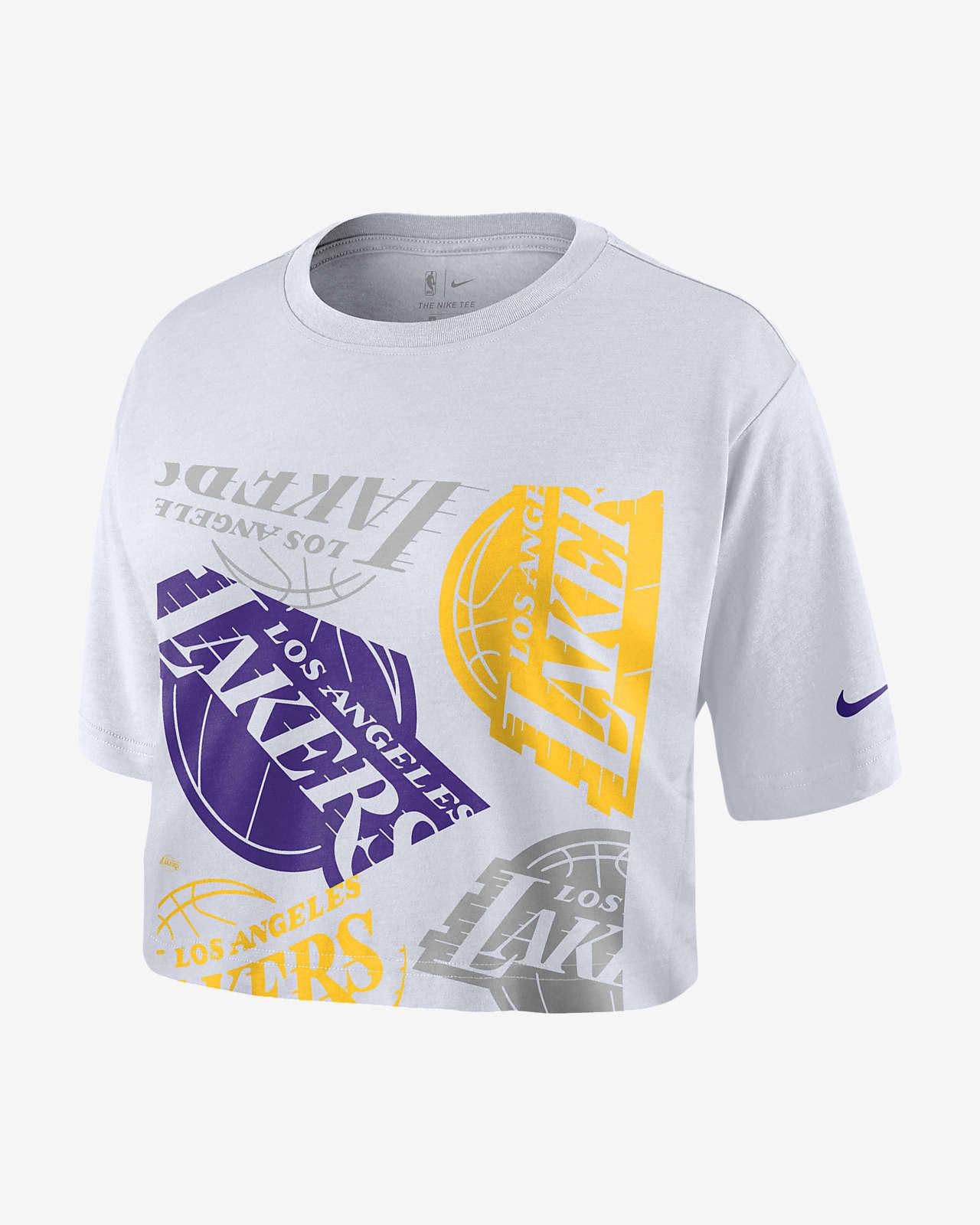 Lakers Logo Kort Nike NBA T-shirt voor dames