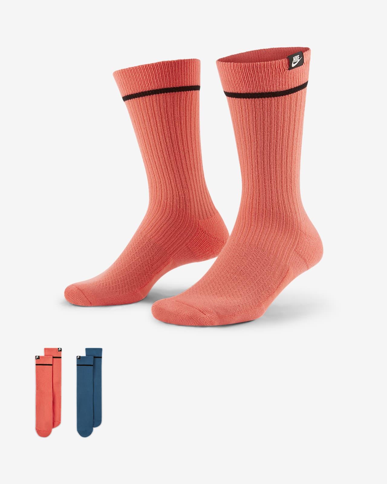 Nike SNKR Sox Unisex Crew Socks (2 Pairs)