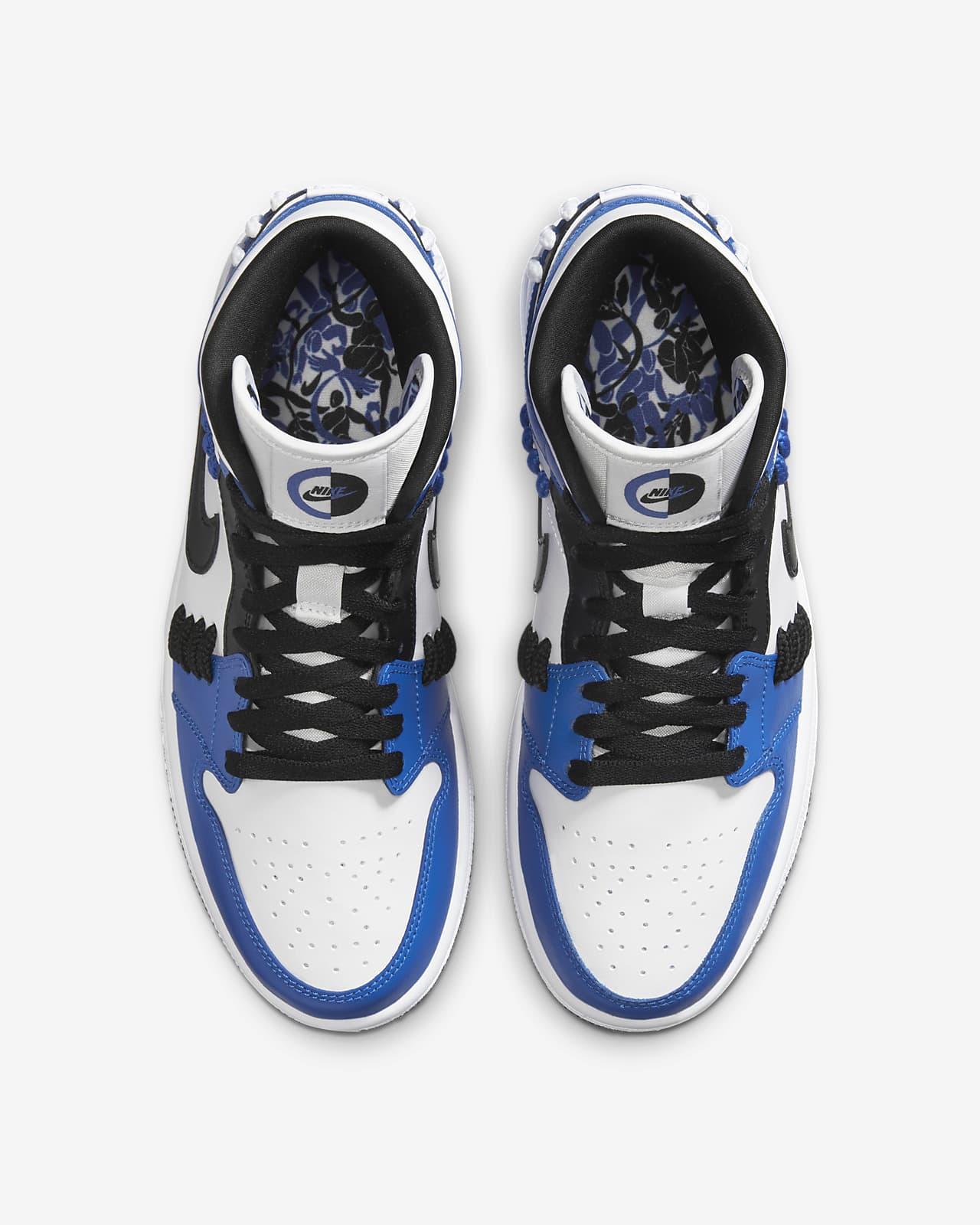 air jordan 1 azules y blancas mujer
