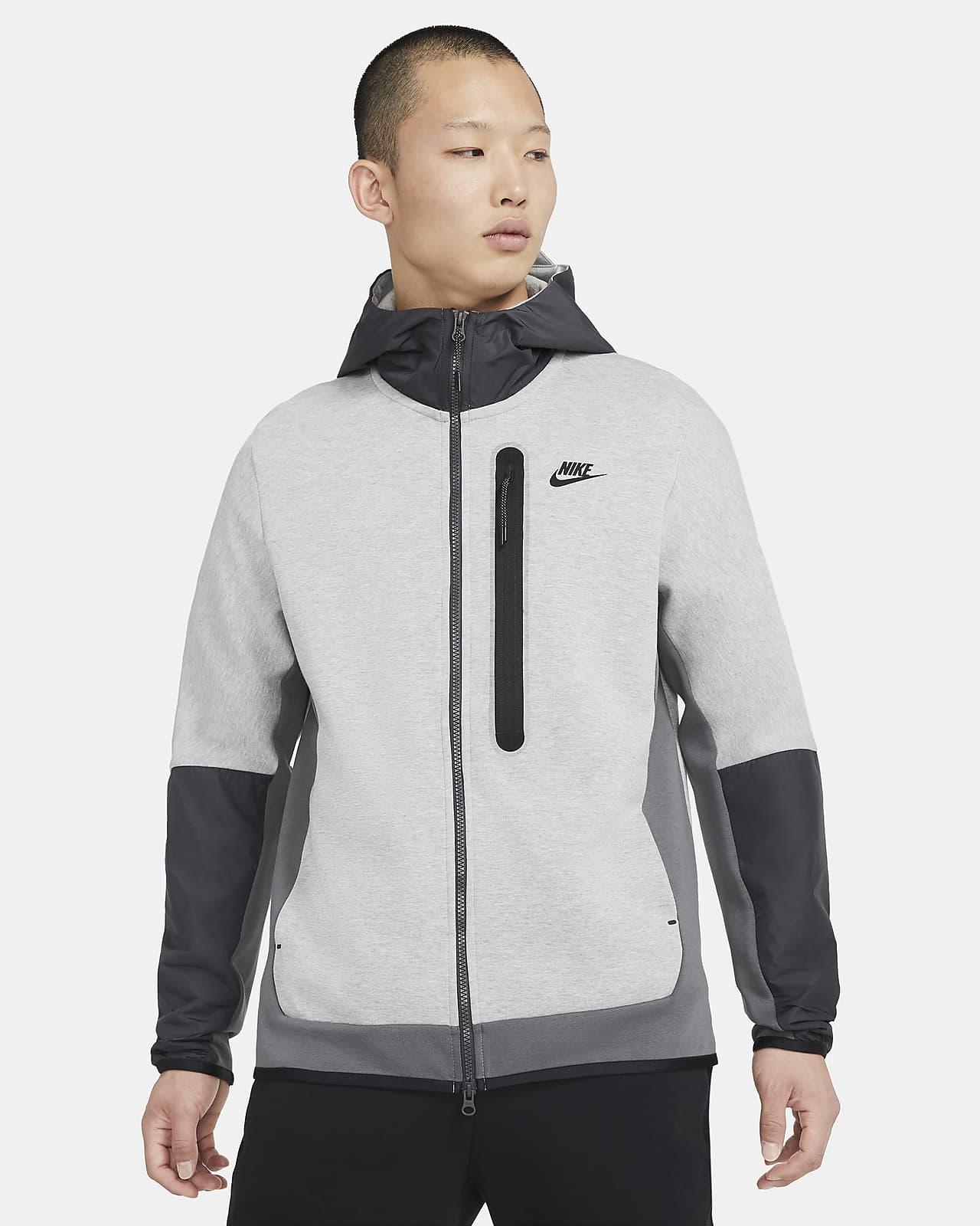 Sudadera con capucha de tejido Woven con cierre completo para hombre Nike Sportswear Tech Fleece
