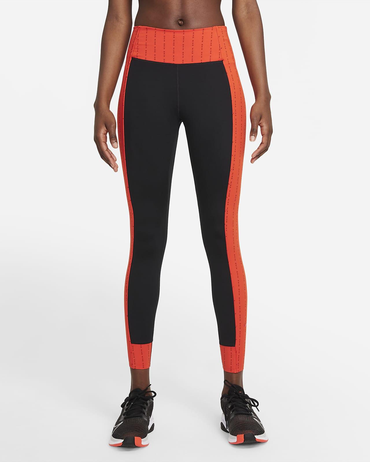 Nike Dri-FIT One Luxe Icon Clash leggings i 7/8 lengde med mellomhøyt liv til dame