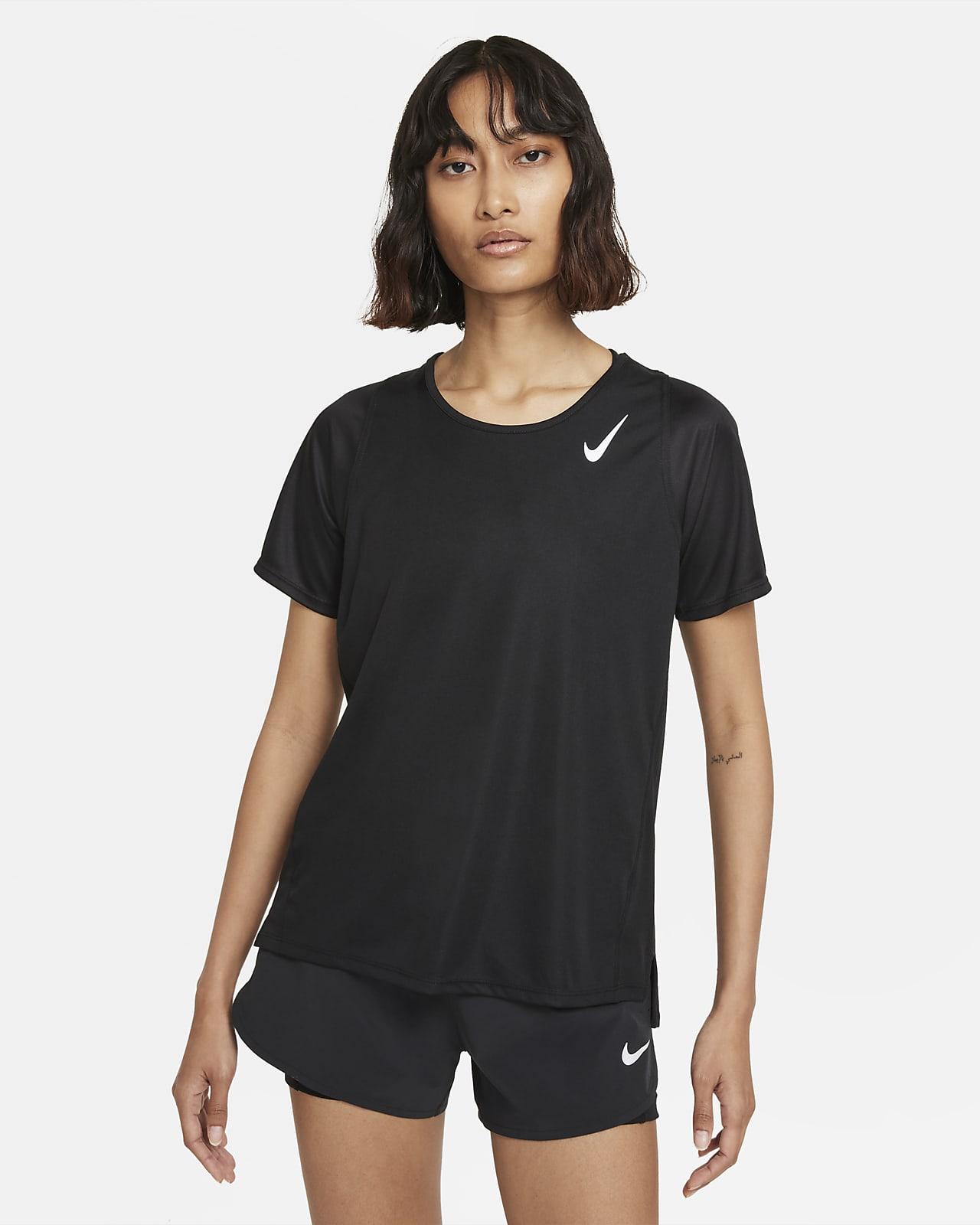 Kortärmad löpartröja Nike Dri-FIT Race för kvinnor