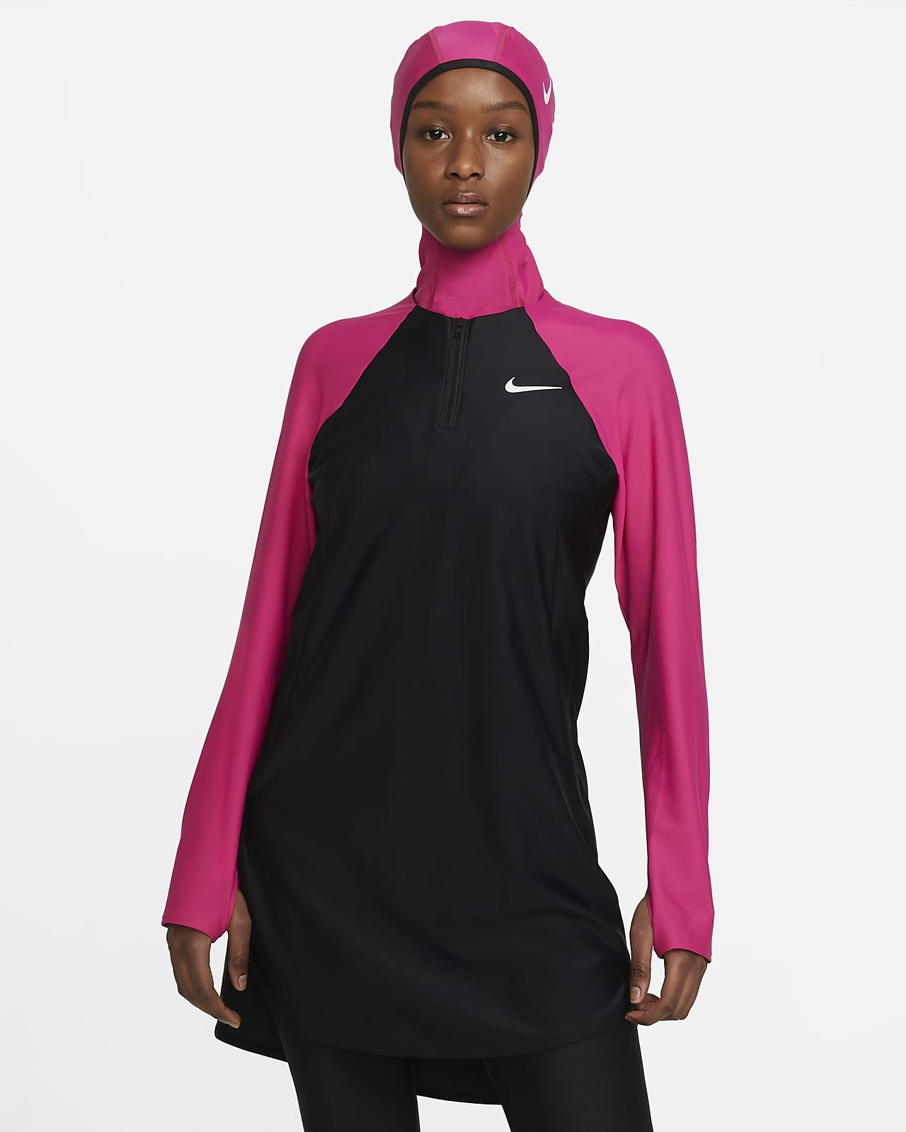 Nike Victory Essential Schwimm-Tunika mit durchgehendem Schutz für Damen