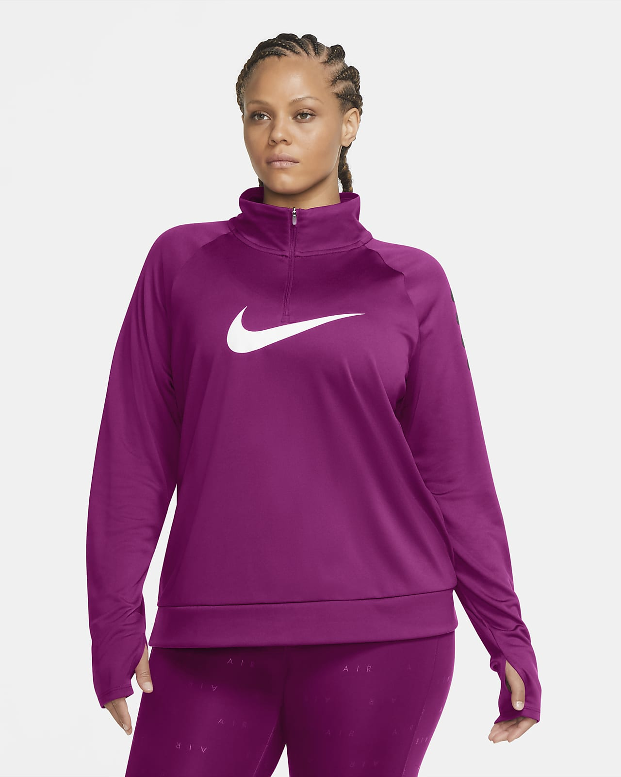 Nike Swoosh Run Women's 1/2-Zip Running Top (Plus Size)