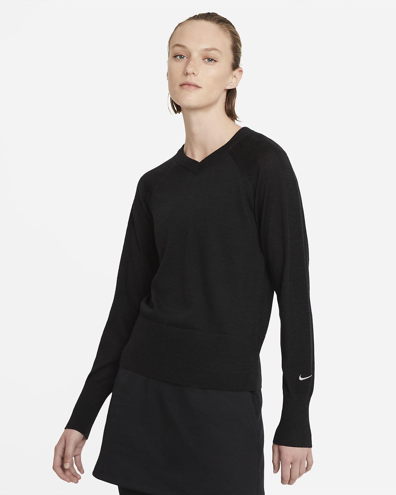 Sweater de golf de manga larga para mujer Nike Ace
