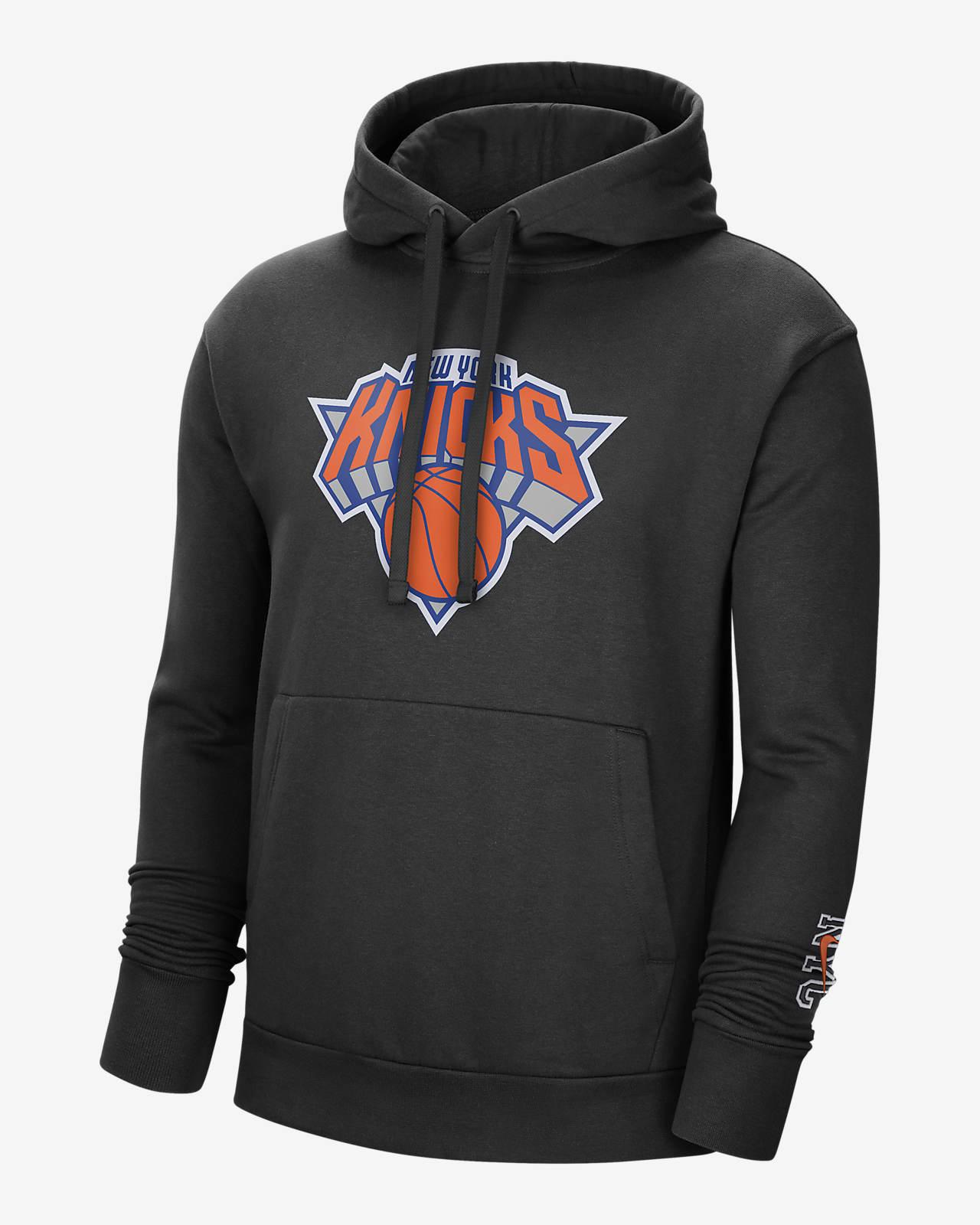 Męska bluza z kapturem NBA Nike New York Knicks City Edition Logo