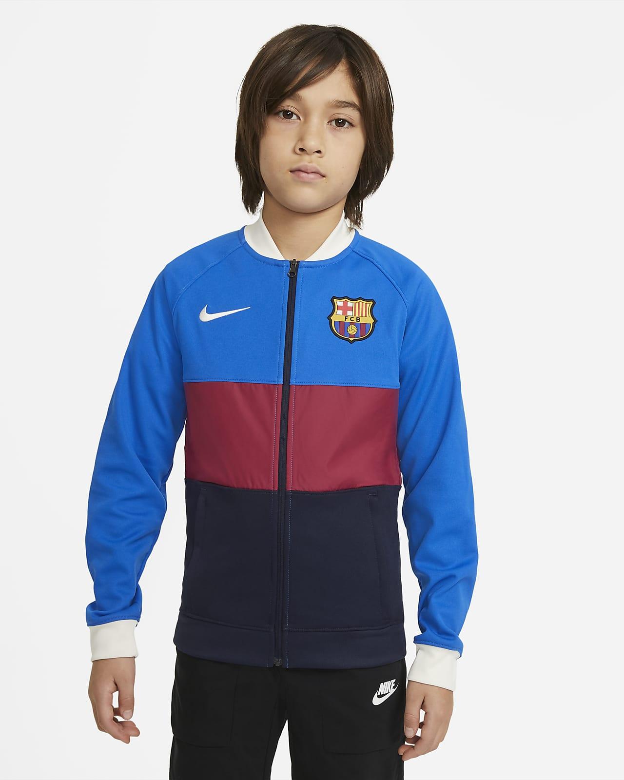 FC Barcelona Fußball-Track-Jacket mit durchgehendem Reißverschluss für ältere Kinder