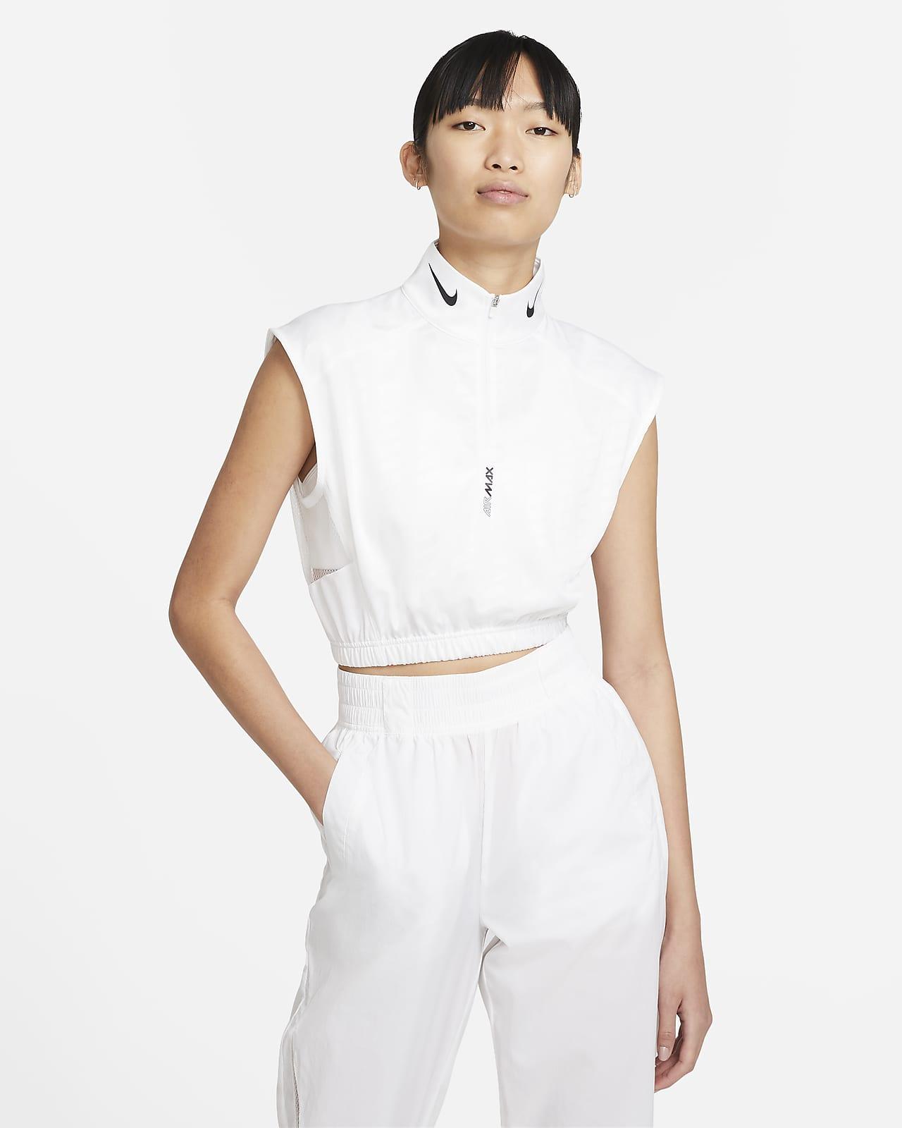 Nike Sportswear 女子半长拉链无袖上衣