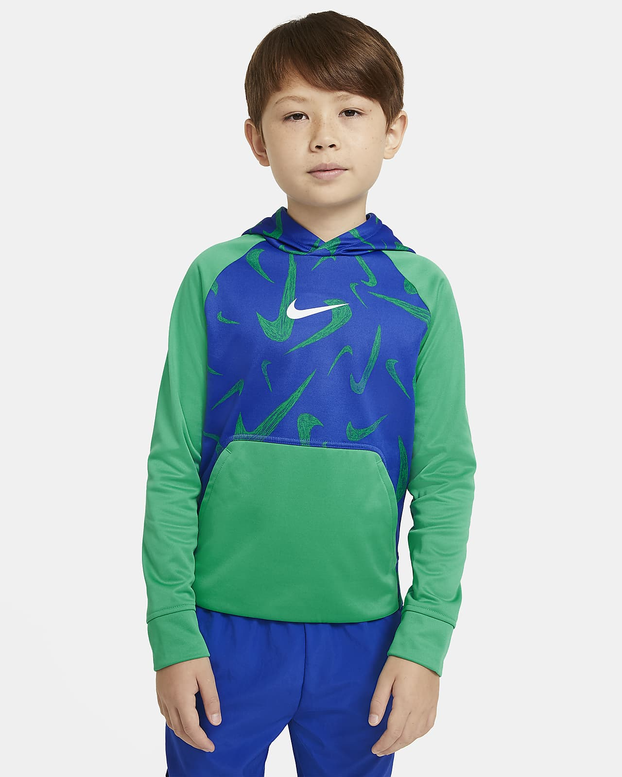 Nike Therma Big Kids' (Boys') Printed Pullover Training Hoodie