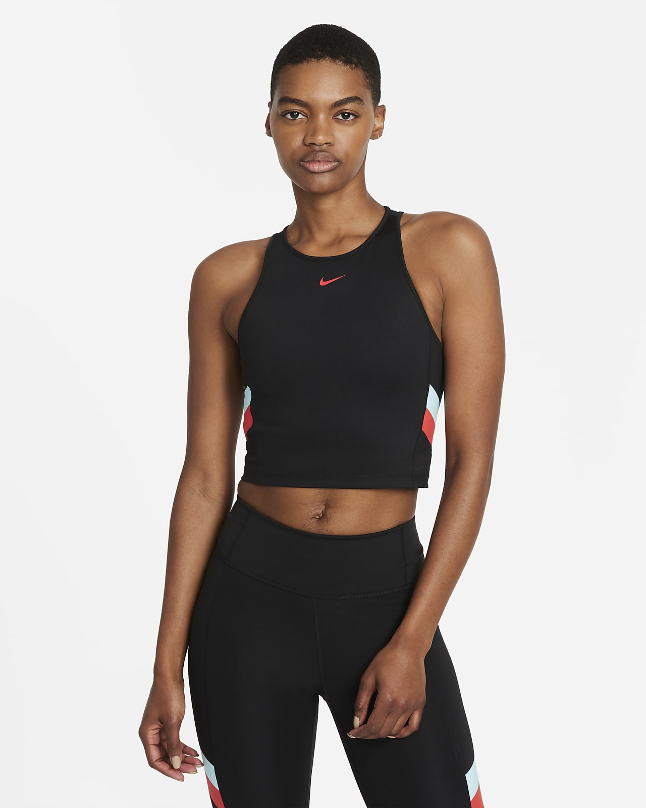 Nike Women's Color-Block Stripe Cropped Training Tank