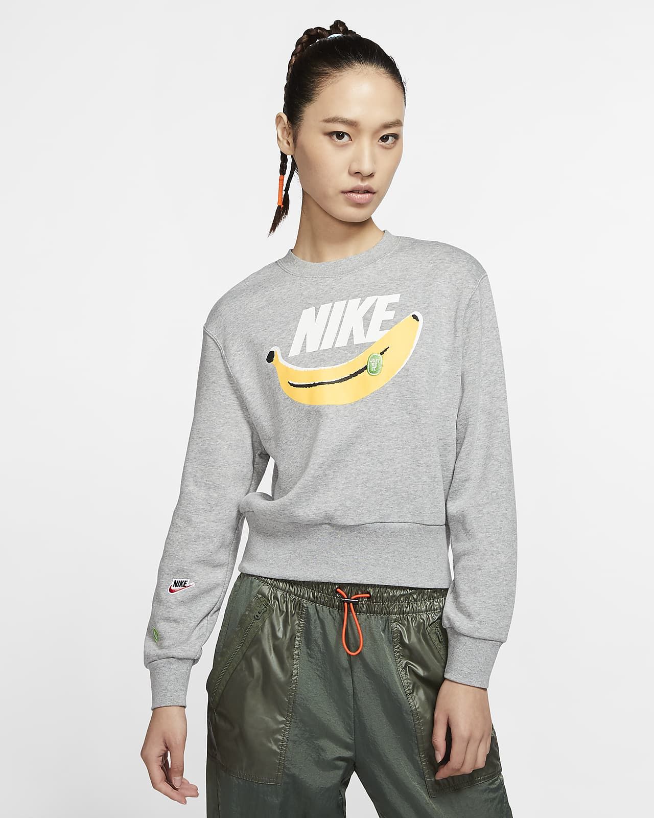 Nike Sportswear 女款 Fleece 貼身圓領上衣