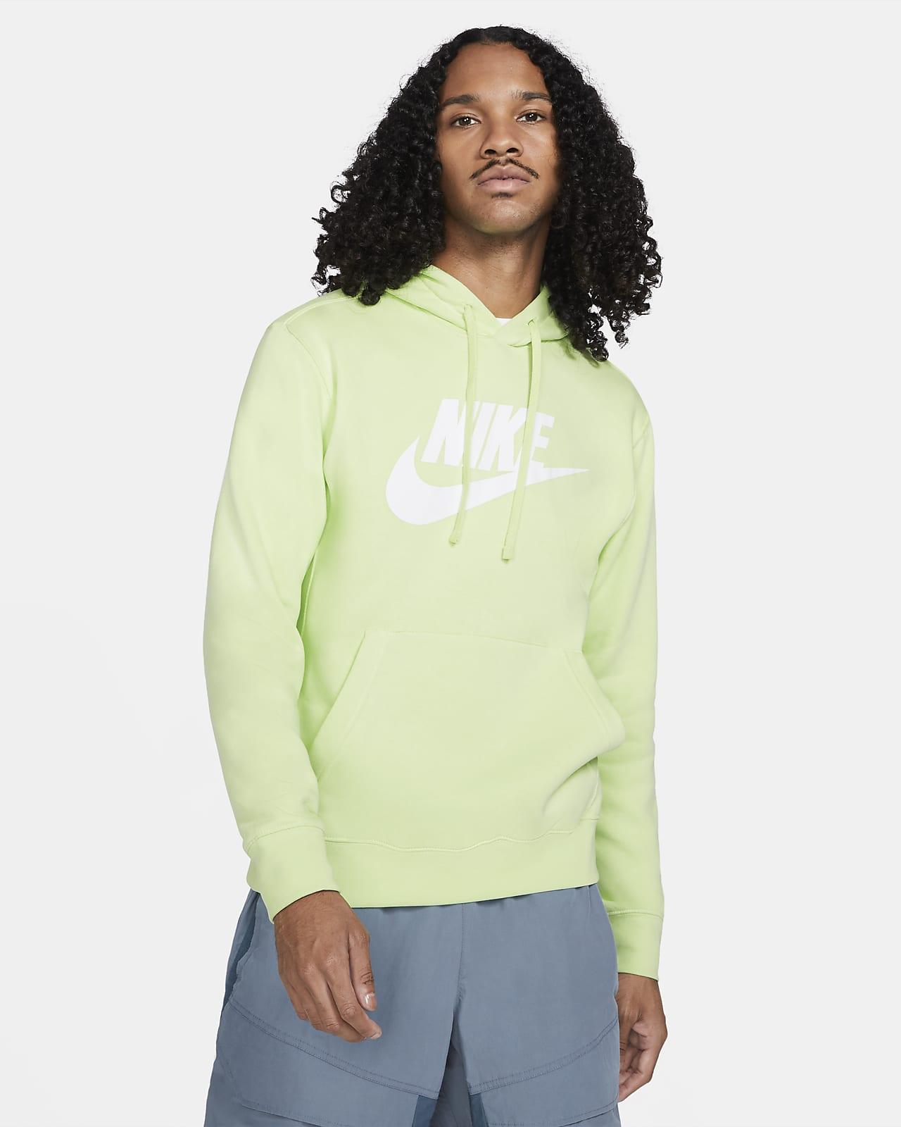 Felpa pullover con cappuccio e grafica Nike Sportswear Club Fleece - Uomo