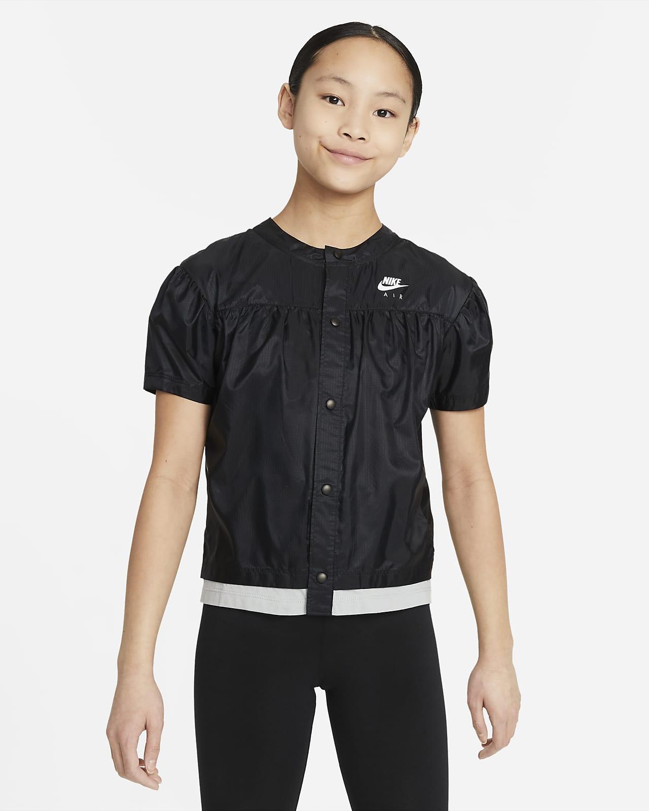 Tkaný top Nike Air skrátkým rukávem pro větší děti (dívky)