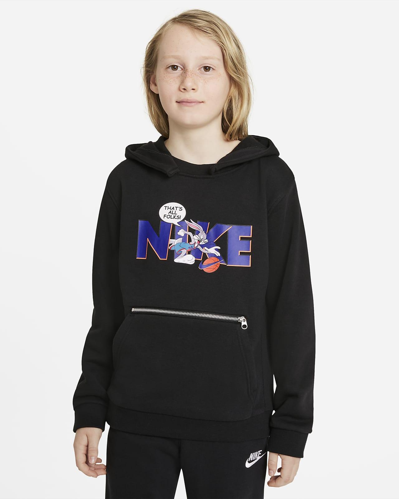 Nike Dri-FIT x Space Jam: A New Legacy Genç Çocuk Kapüşonlu Üstü