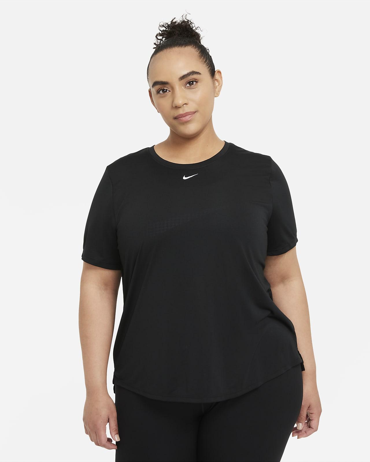 Nike Dri-FIT One Kurzarmoberteil in Standardpassform für Damen (große Größe)