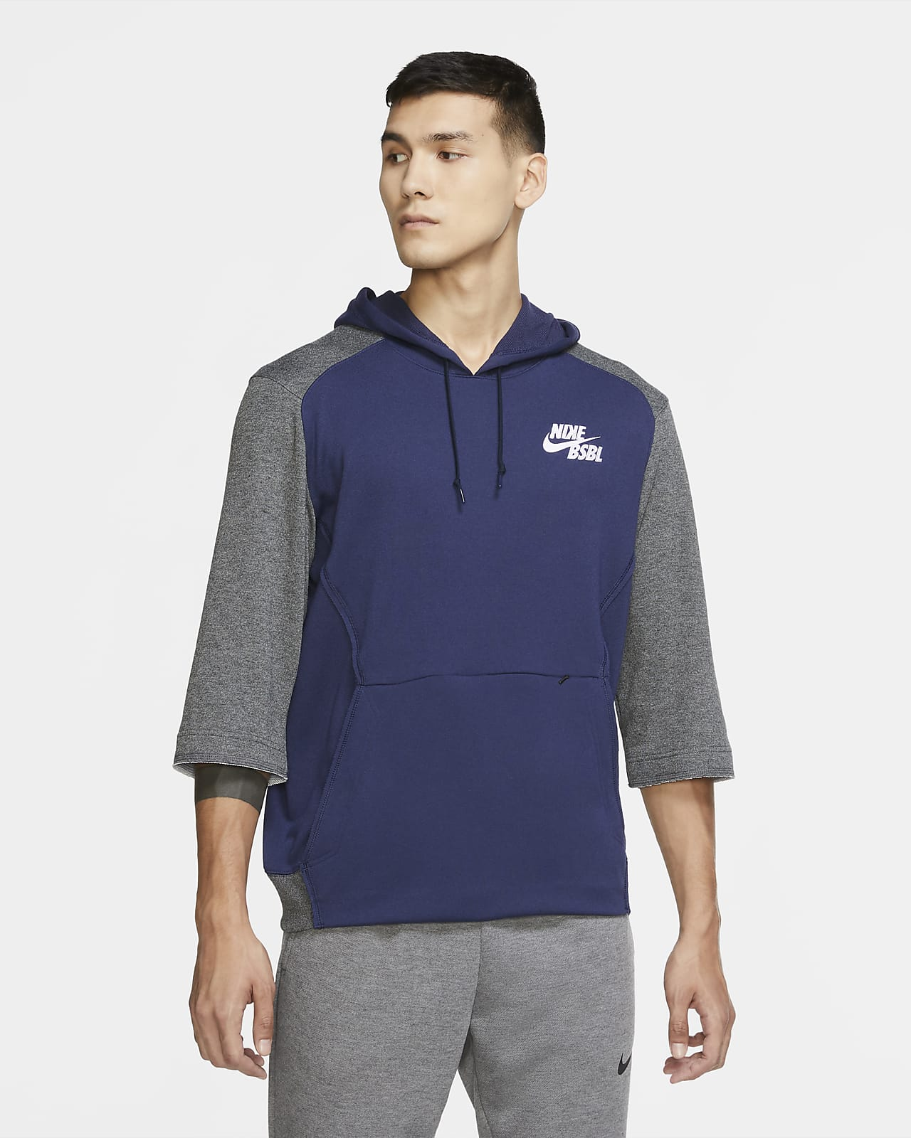 Nike Dri-FIT Flux Men's 3/4-Sleeve Baseball Hoodie