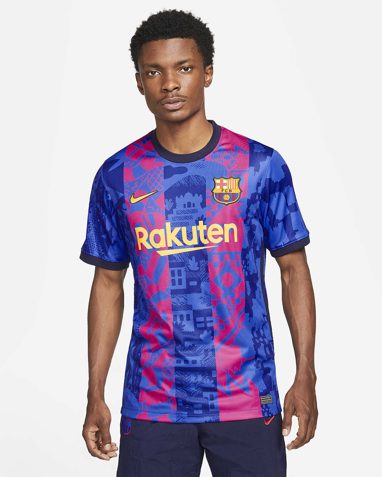 Jersey de fútbol Nike Dri-FIT FC Barcelona alternativo 2021/22 Stadium para hombre