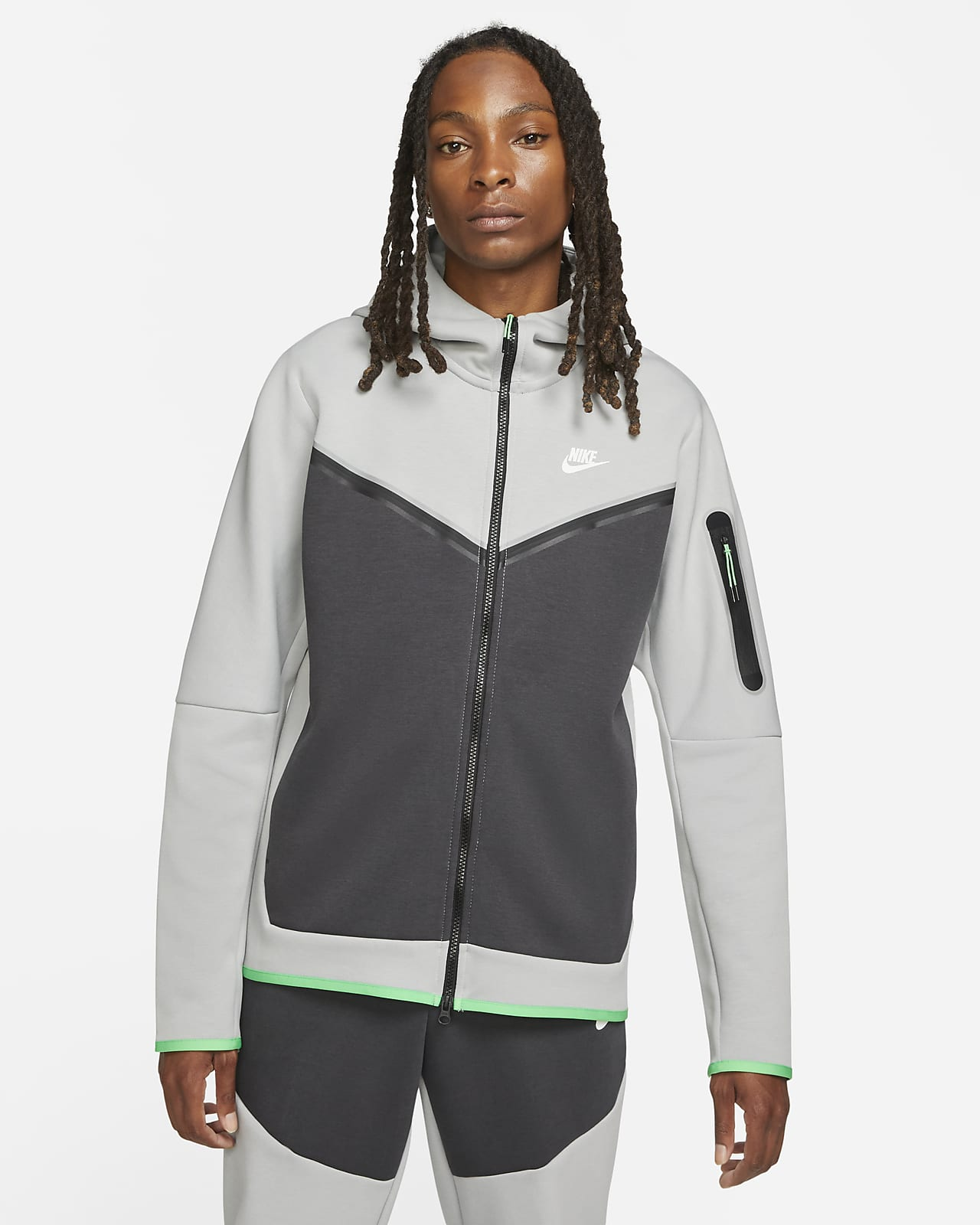 Nike Sportswear Tech Fleece Tam Boy Fermuarlı Erkek Kapüşonlu Üstü