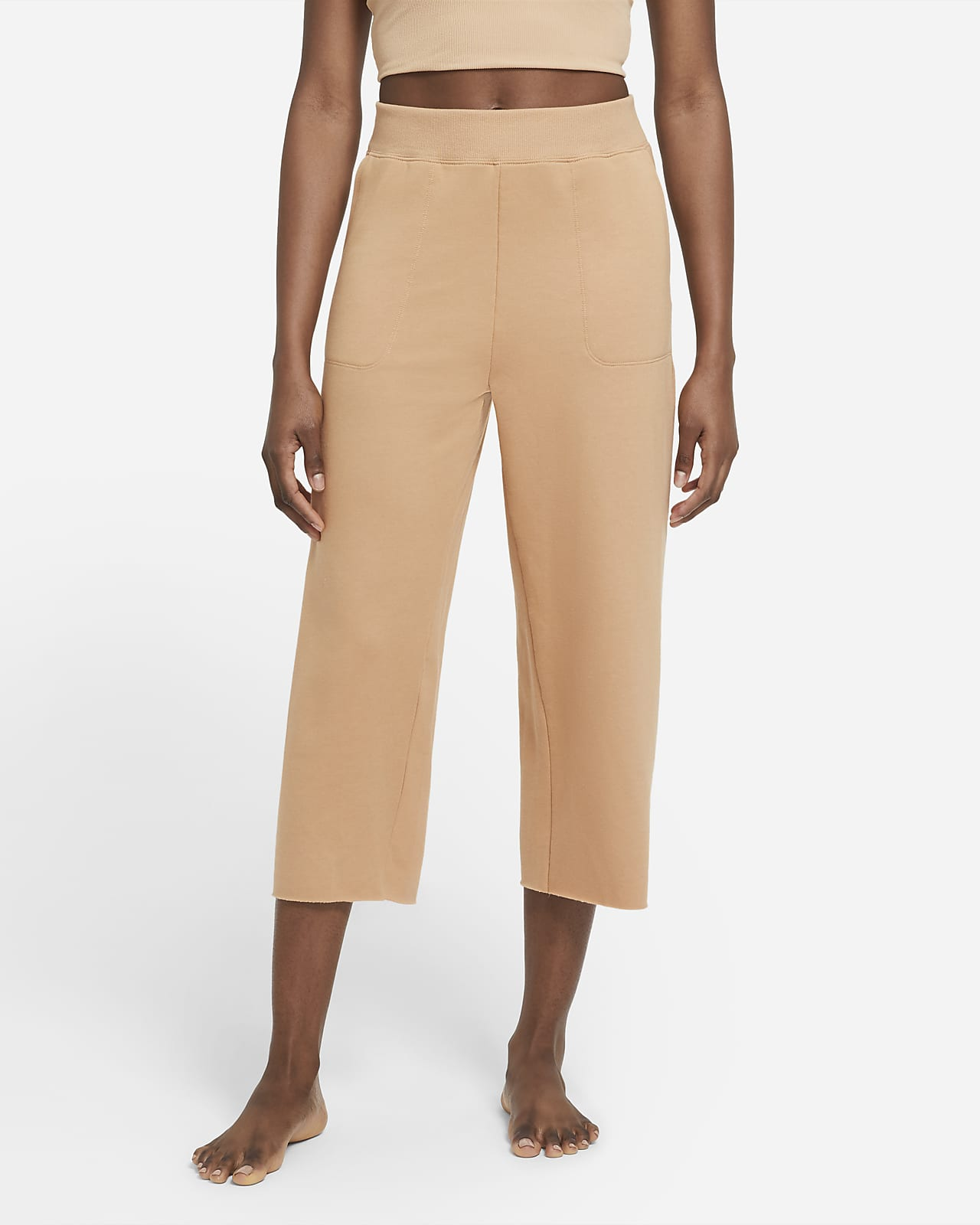 Nike Yoga Luxe kort fleecebukse til dame