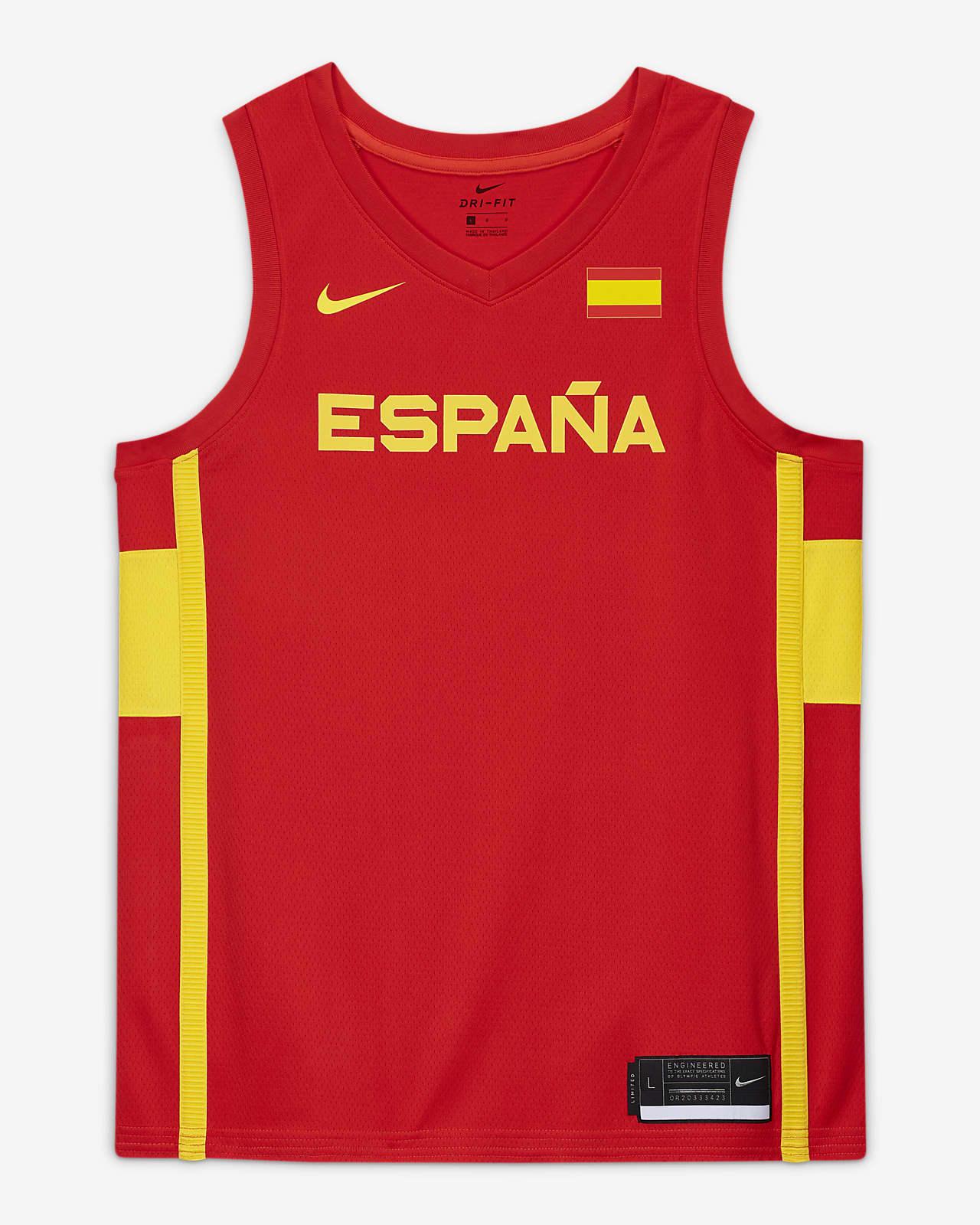 Spain Nike (Road) Limited Men's Nike Basketball Jersey