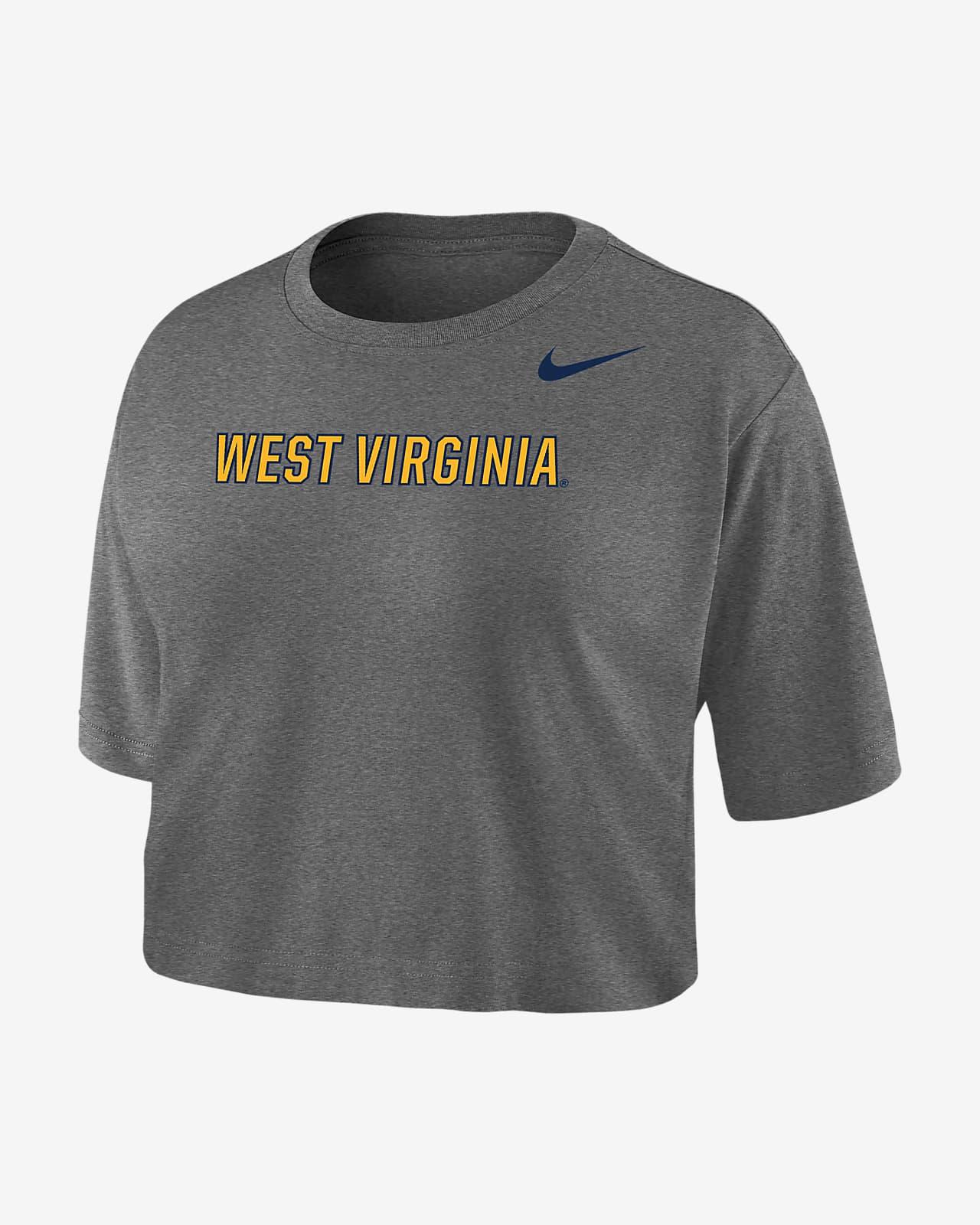 Nike College Dri-FIT (West Virginia) Women's Crop T-Shirt