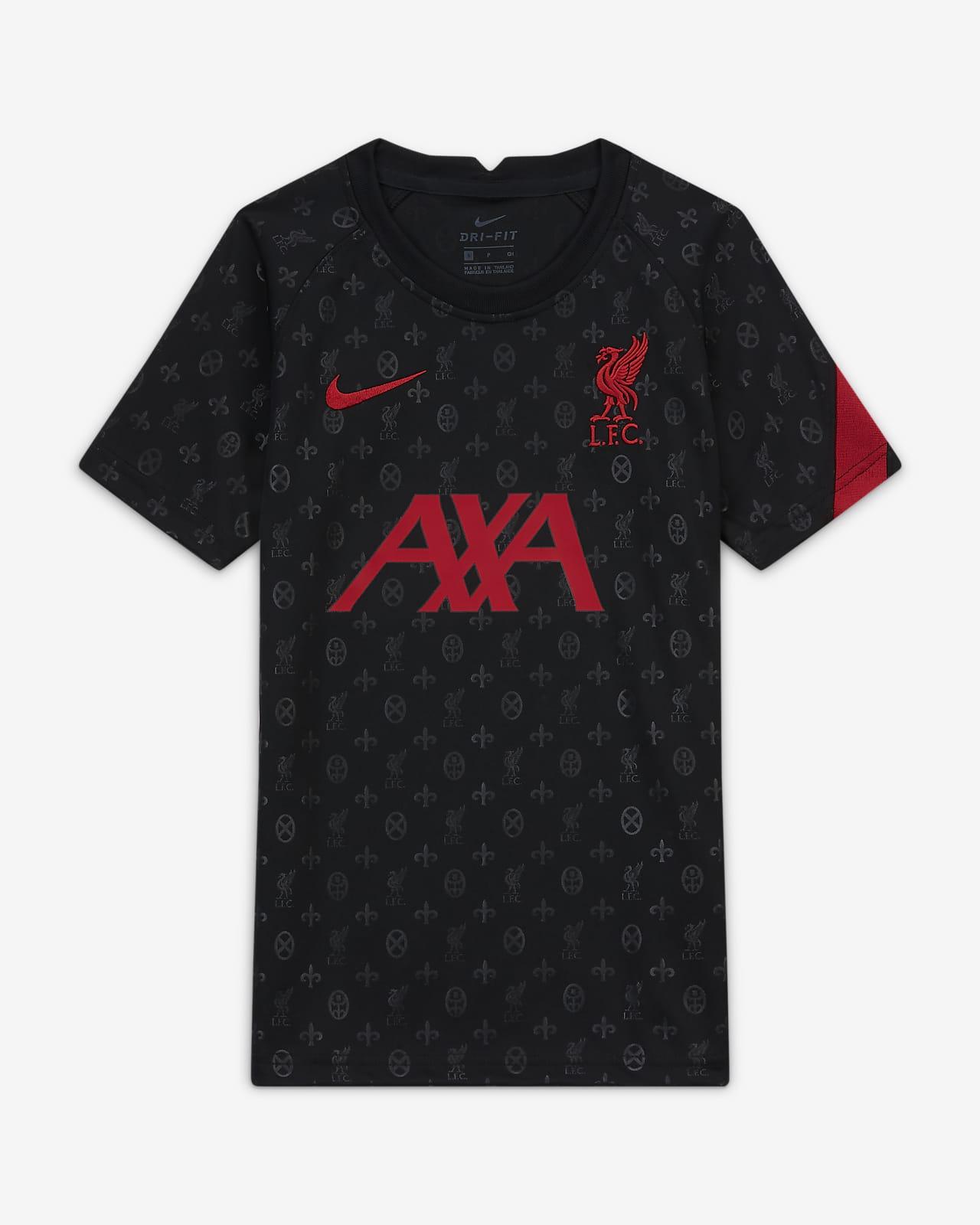 Kortärmad fotbollströja för uppvärmning Liverpool FC för ungdom