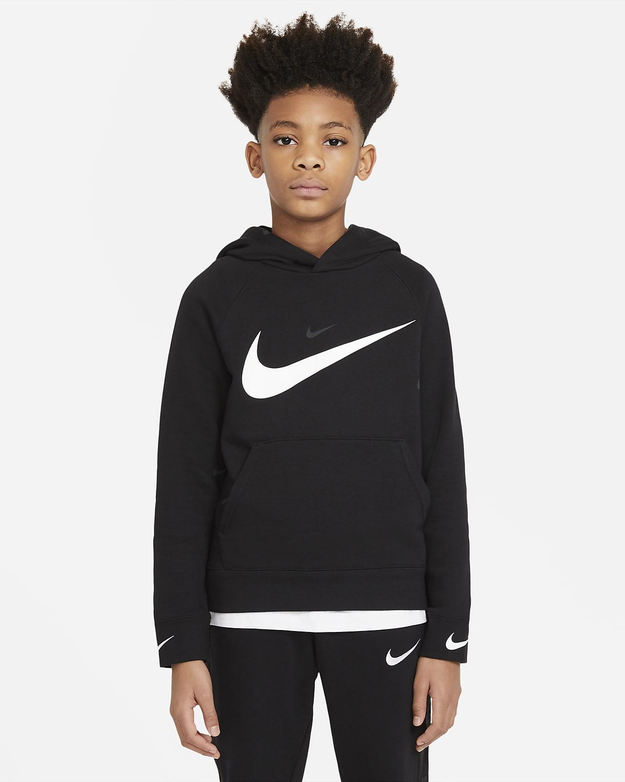 Sudadera con capucha sin cierre para niño talla grande Nike Sportswear Swoosh