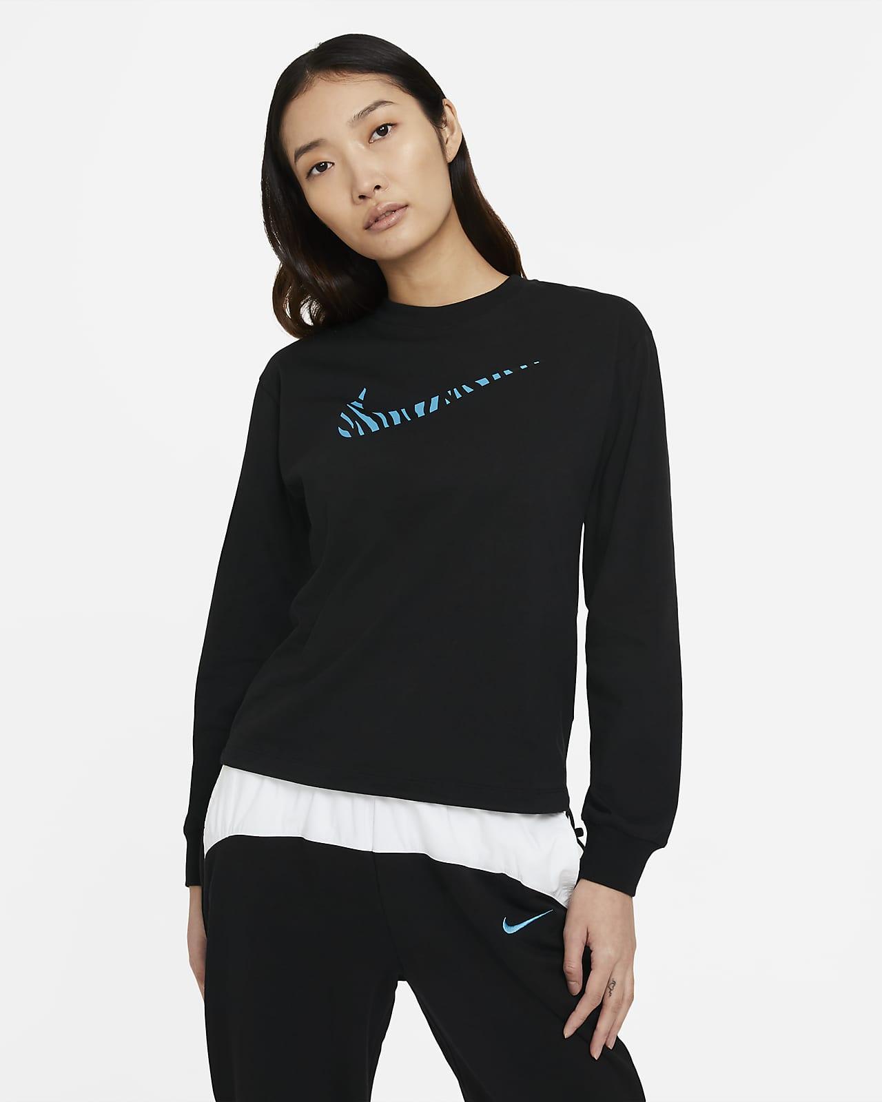 เสื้อแขนยาวผู้หญิง Nike Sportswear Icon Clash