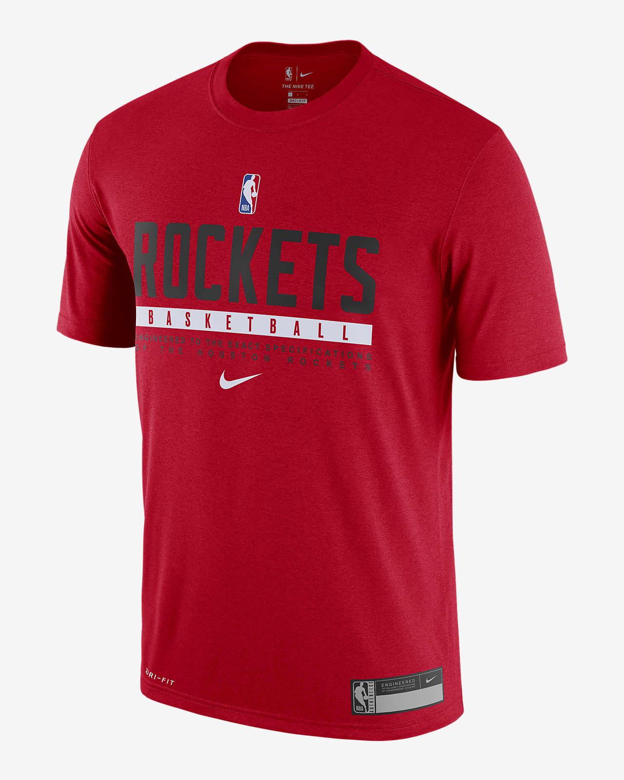Rockets Practice Nike Dri-FIT NBA T-skjorte til herre
