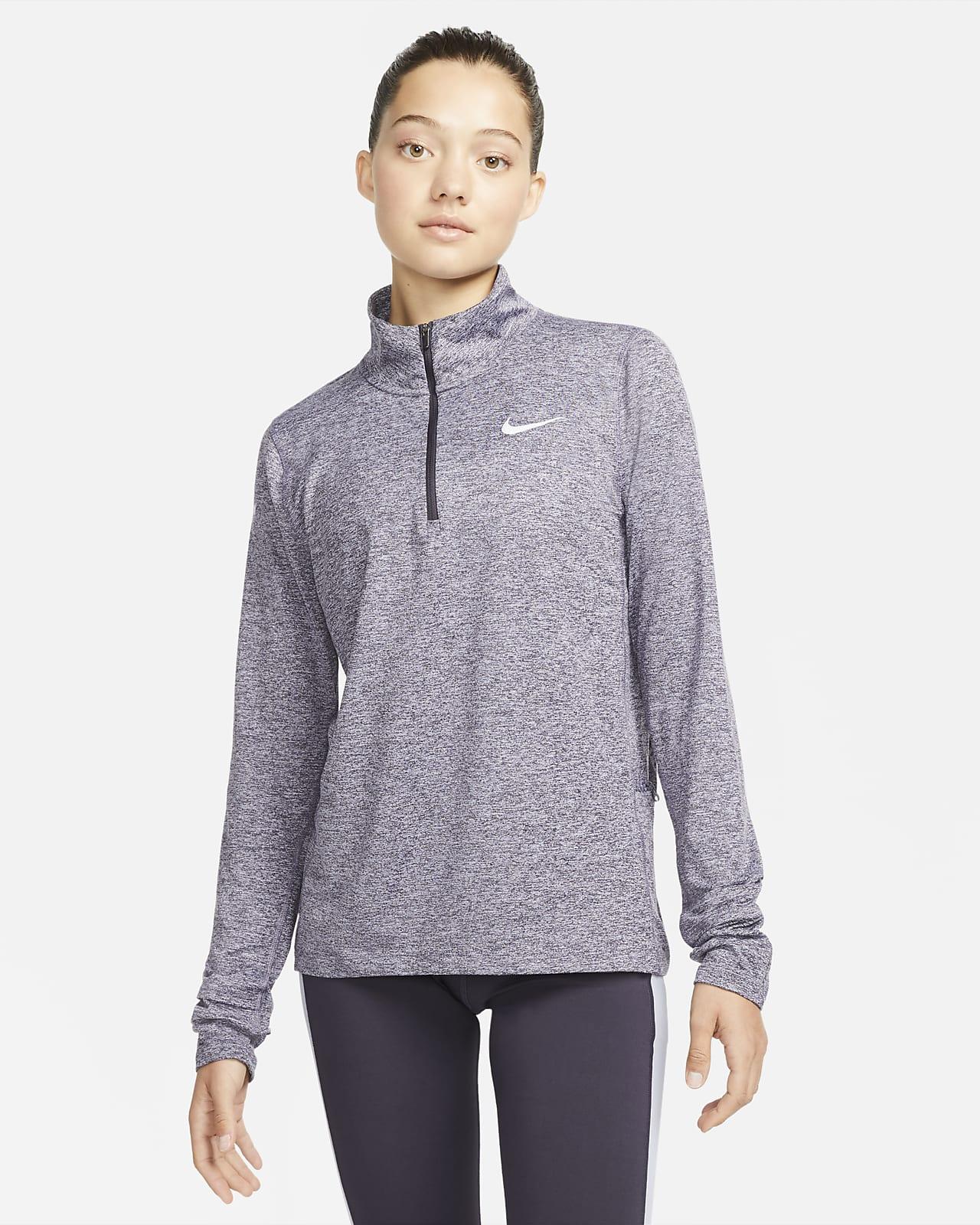 Löpartröja Nike med halv dragkedja för kvinnor